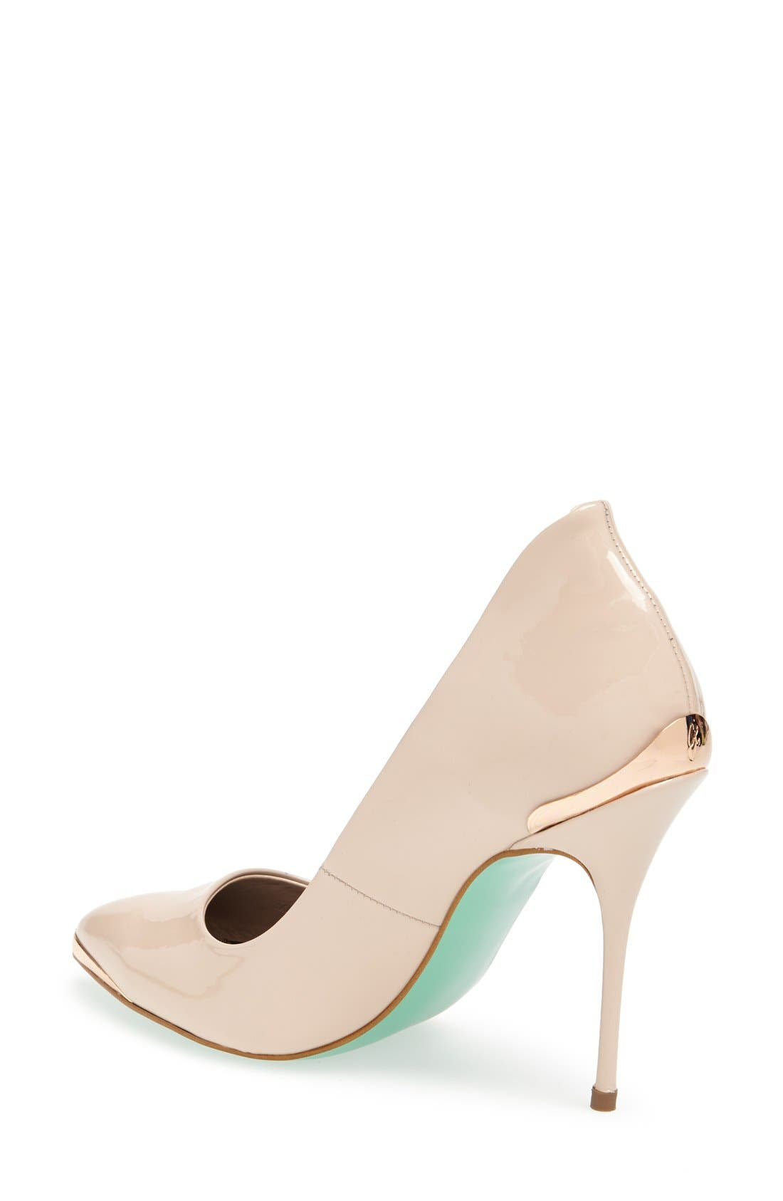Alternate Image 2  - Topshop by CJG 'High Pitch' Patent Leather Pump (Women)