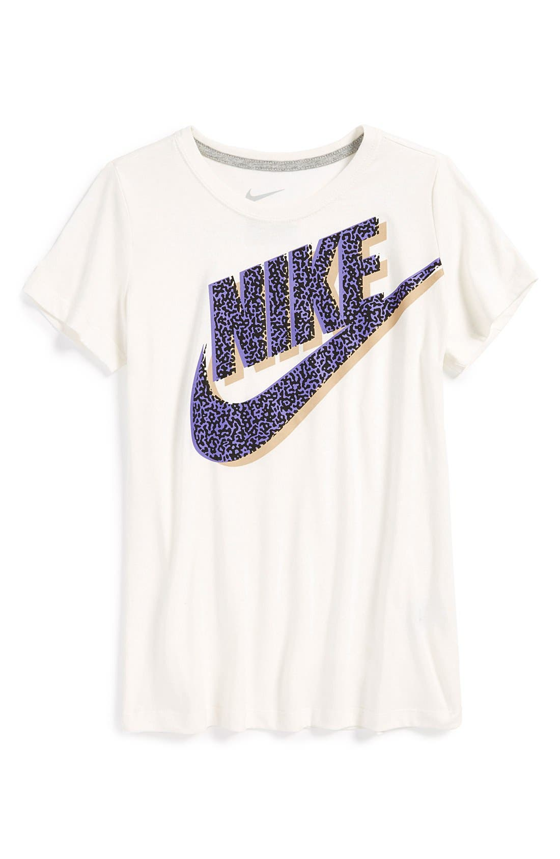 Alternate Image 1 Selected - Nike 'Run Heritage' Graphic Tee (Big Girls) (Online Only)