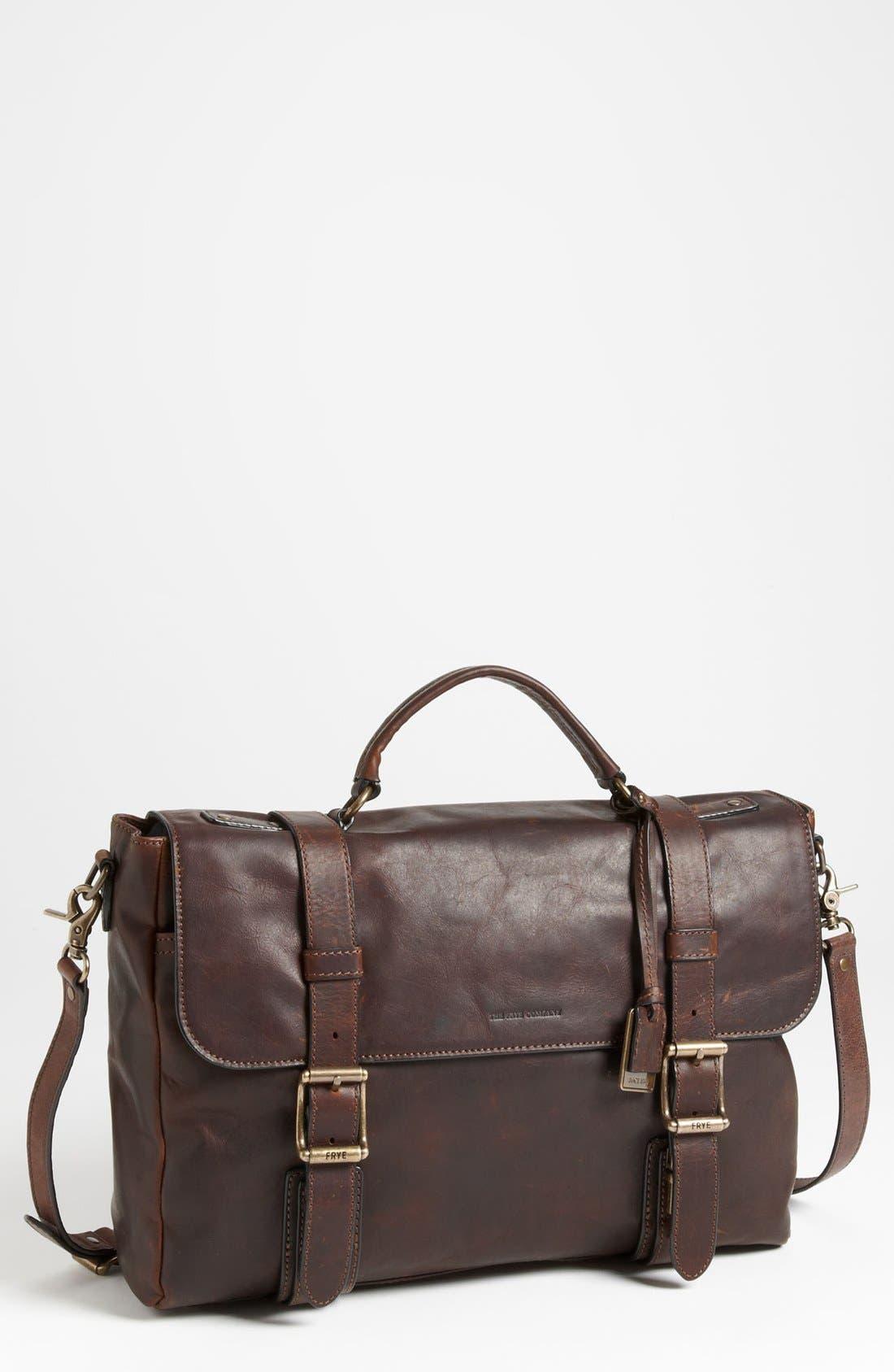 Main Image - Frye 'Logan' Leather Flap Briefcase