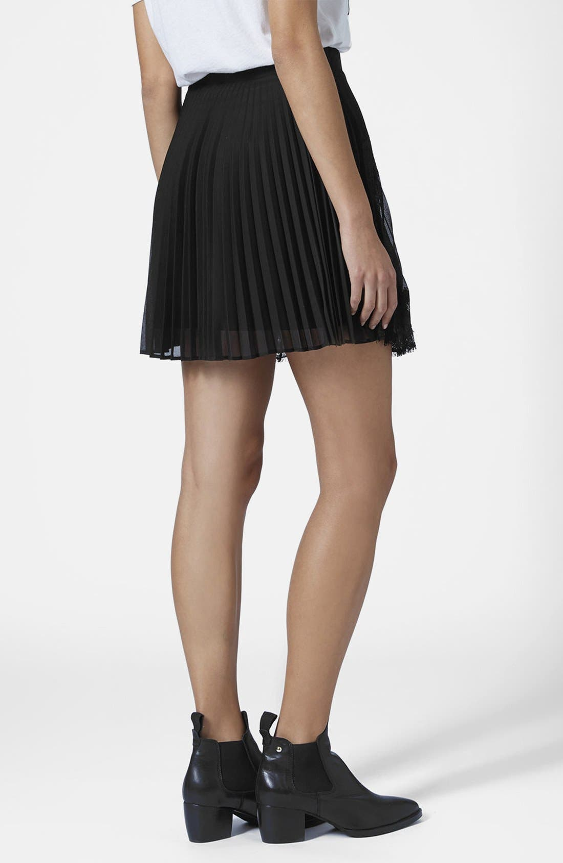 Alternate Image 2  - Topshop Pleat Eyelash Skirt