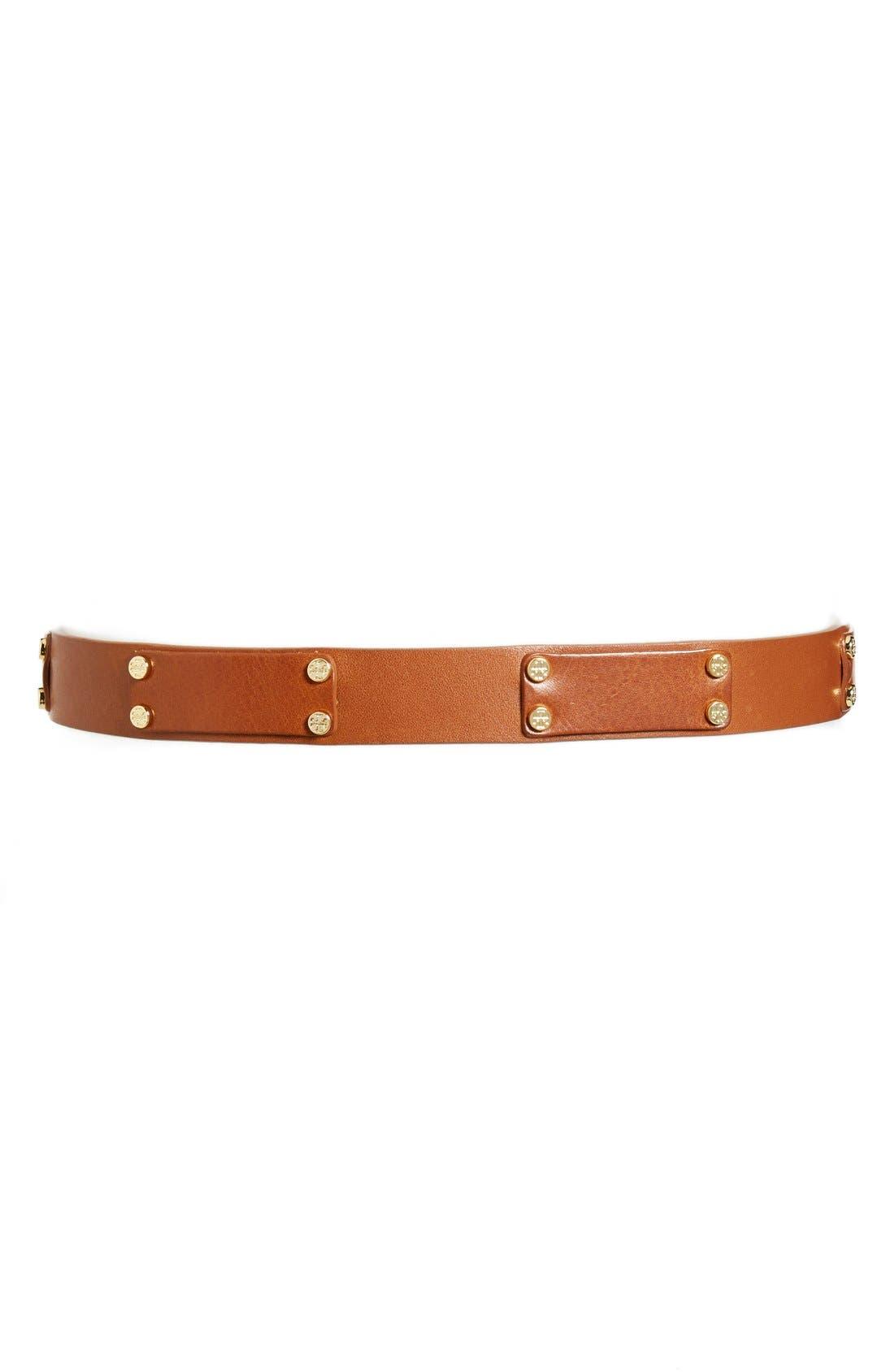 Alternate Image 2  - Tory Burch Leather Rivet Belt
