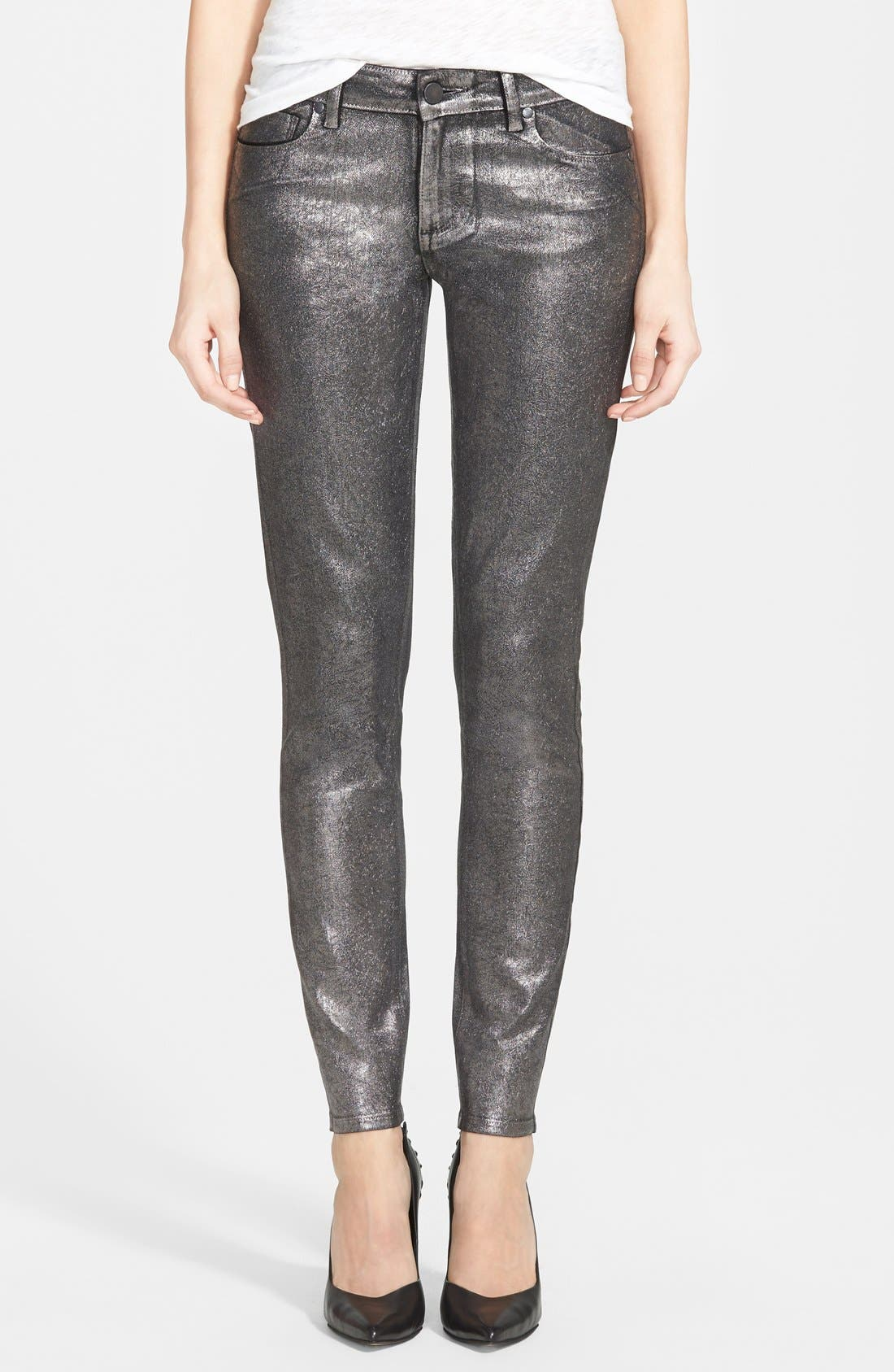 Main Image - Paige Denim 'Verdugo' Ultra Skinny Jeans (Pewter Crackle)
