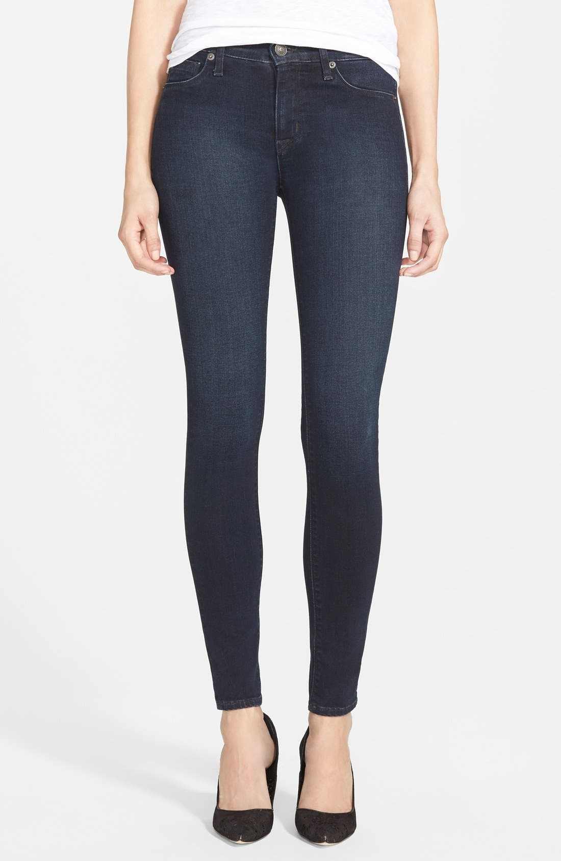 Alternate Image 1 Selected - Hudson Jeans 'Nico' Skinny Jeans (Front And Center)