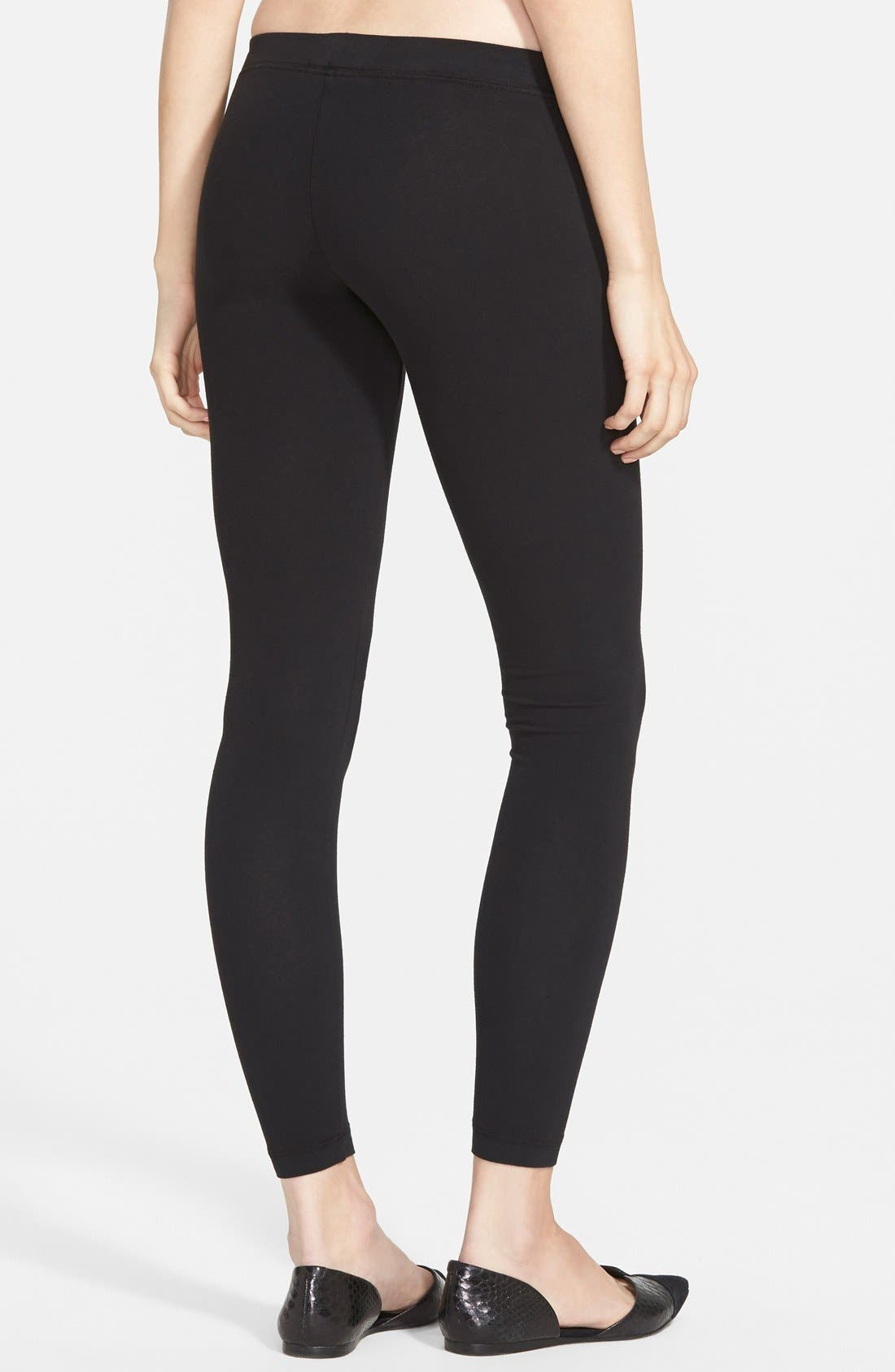 Alternate Image 2  - James Perse Stretch Jersey Leggings