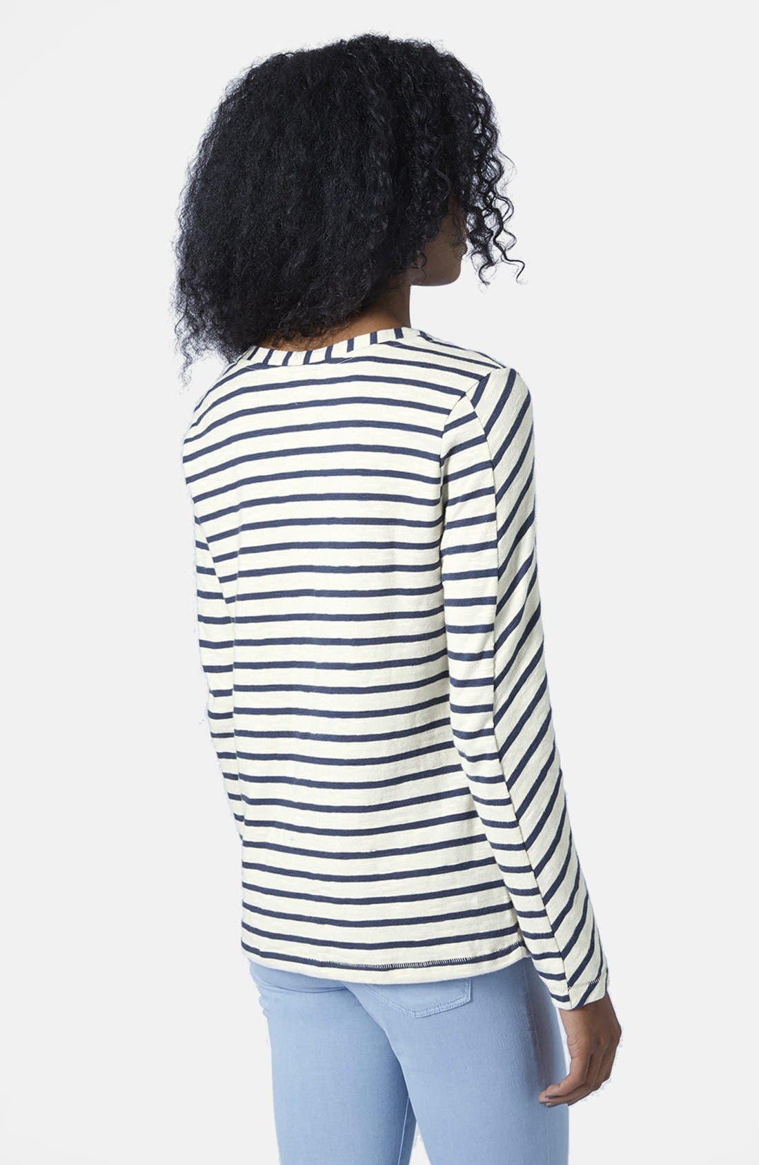 Alternate Image 2  - Topshop Long Sleeve Stripe Top
