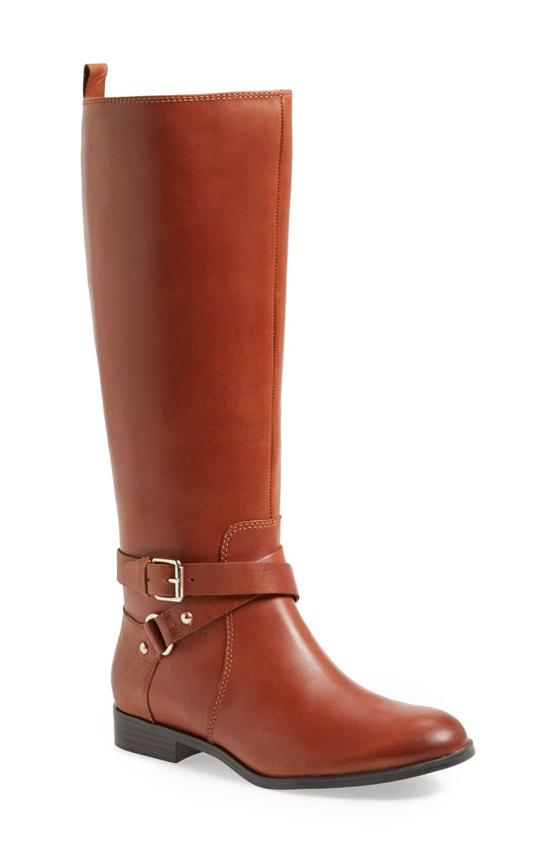 Alternate Image 1 Selected - Enzo Angiolini 'Daniana' Knee High Leather Boot (Wide Calf) (Women)