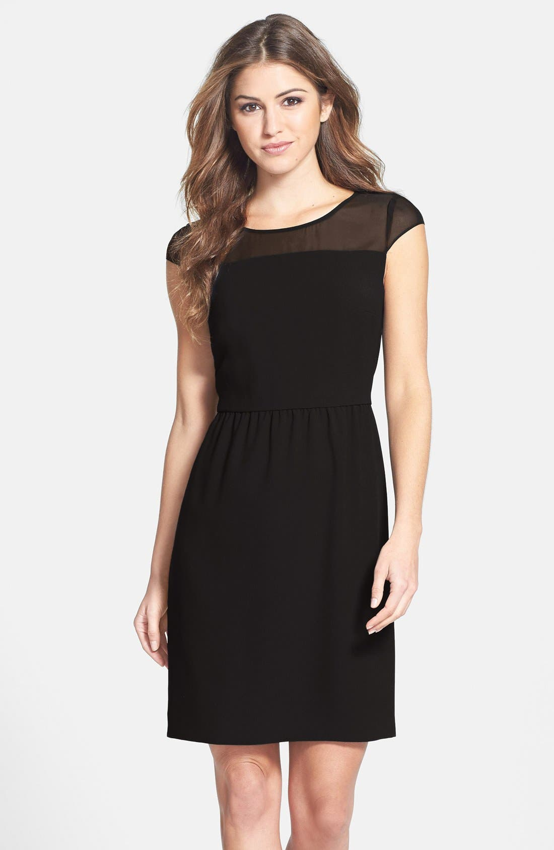 Main Image - Marc New York by Andrew Marc Crepe Fit & Flare Dress