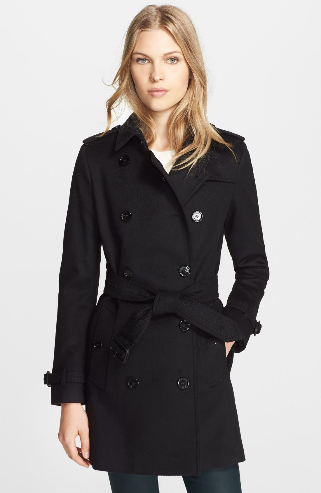 Alternate Image 1 Selected - Burberry London 'Kensington' Double Breasted Trench Coat