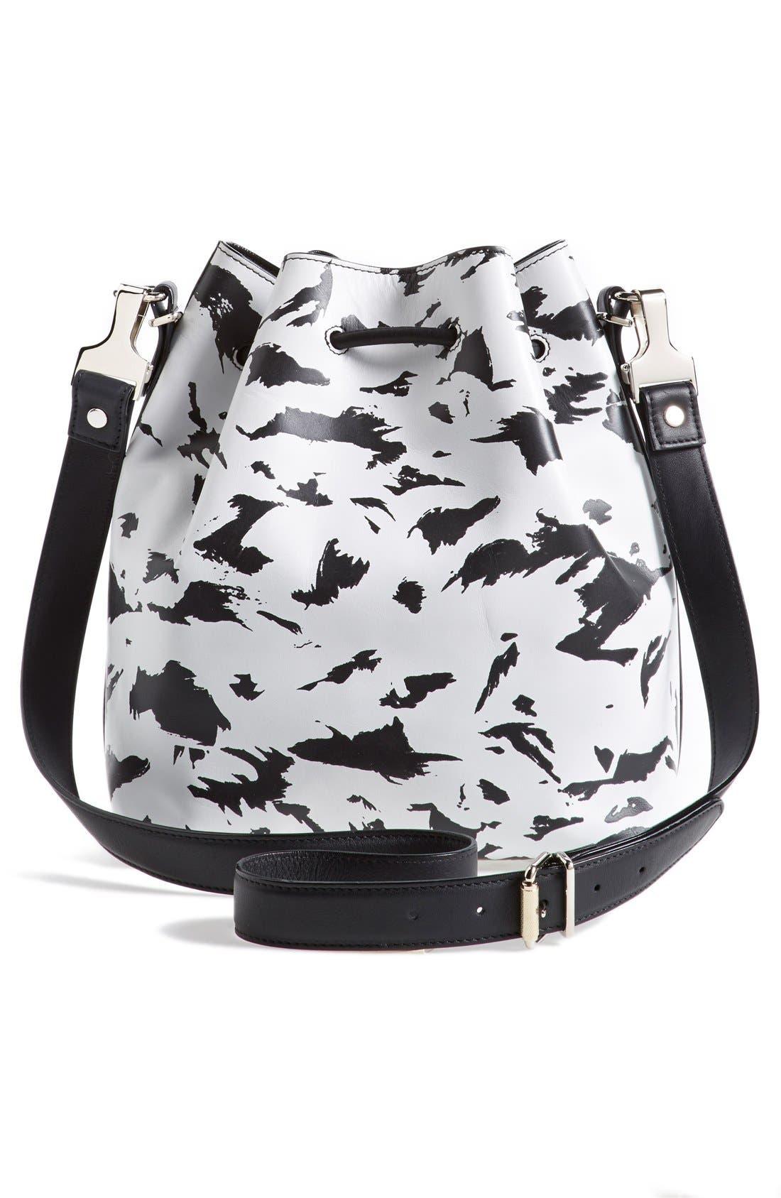 Alternate Image 3  - Proenza Schouler 'Medium' Feather Print Leather Bucket Bag