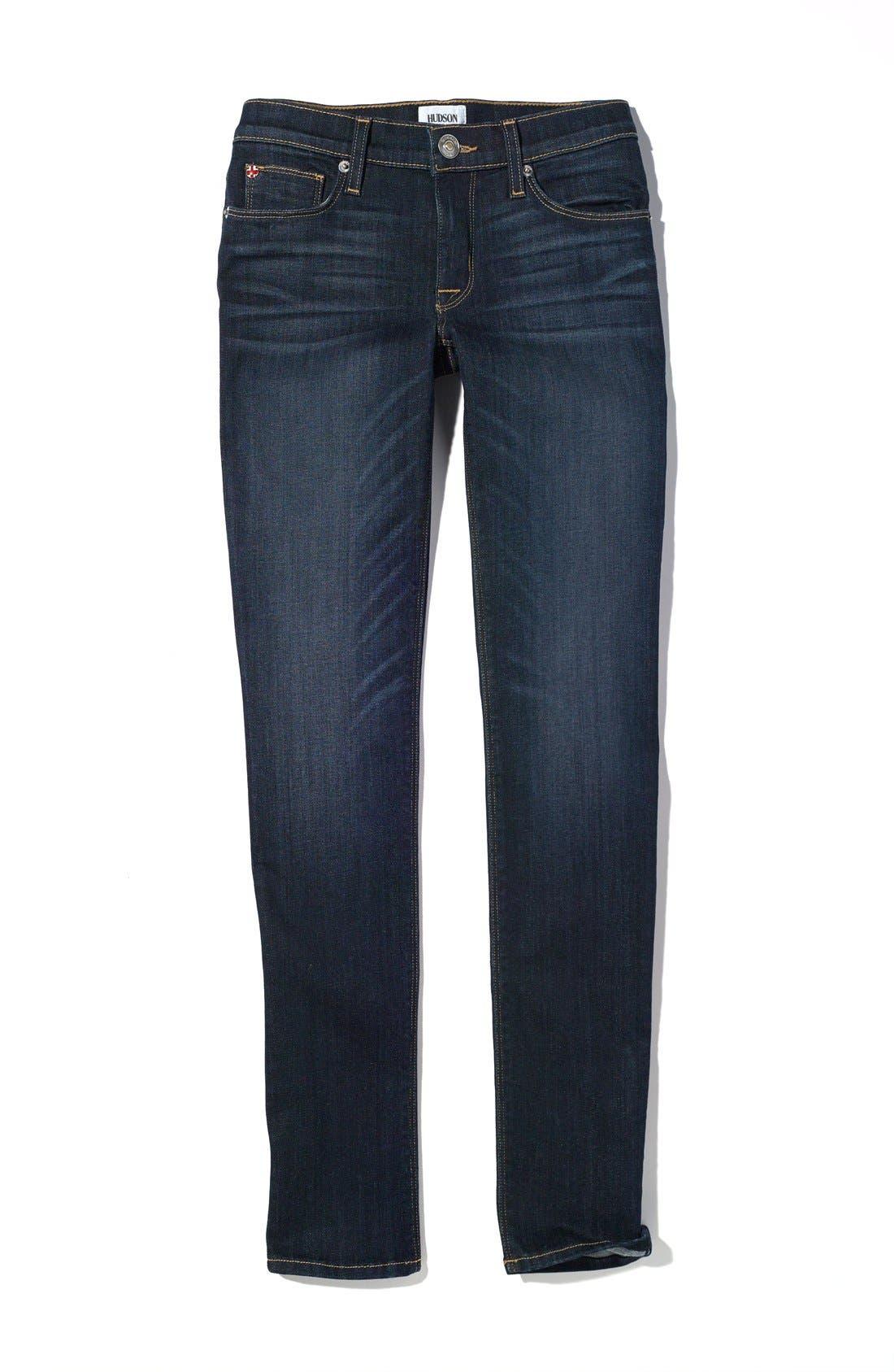 Alternate Image 4  - Hudson Jeans 'Collette' Skinny Jeans (Stella)