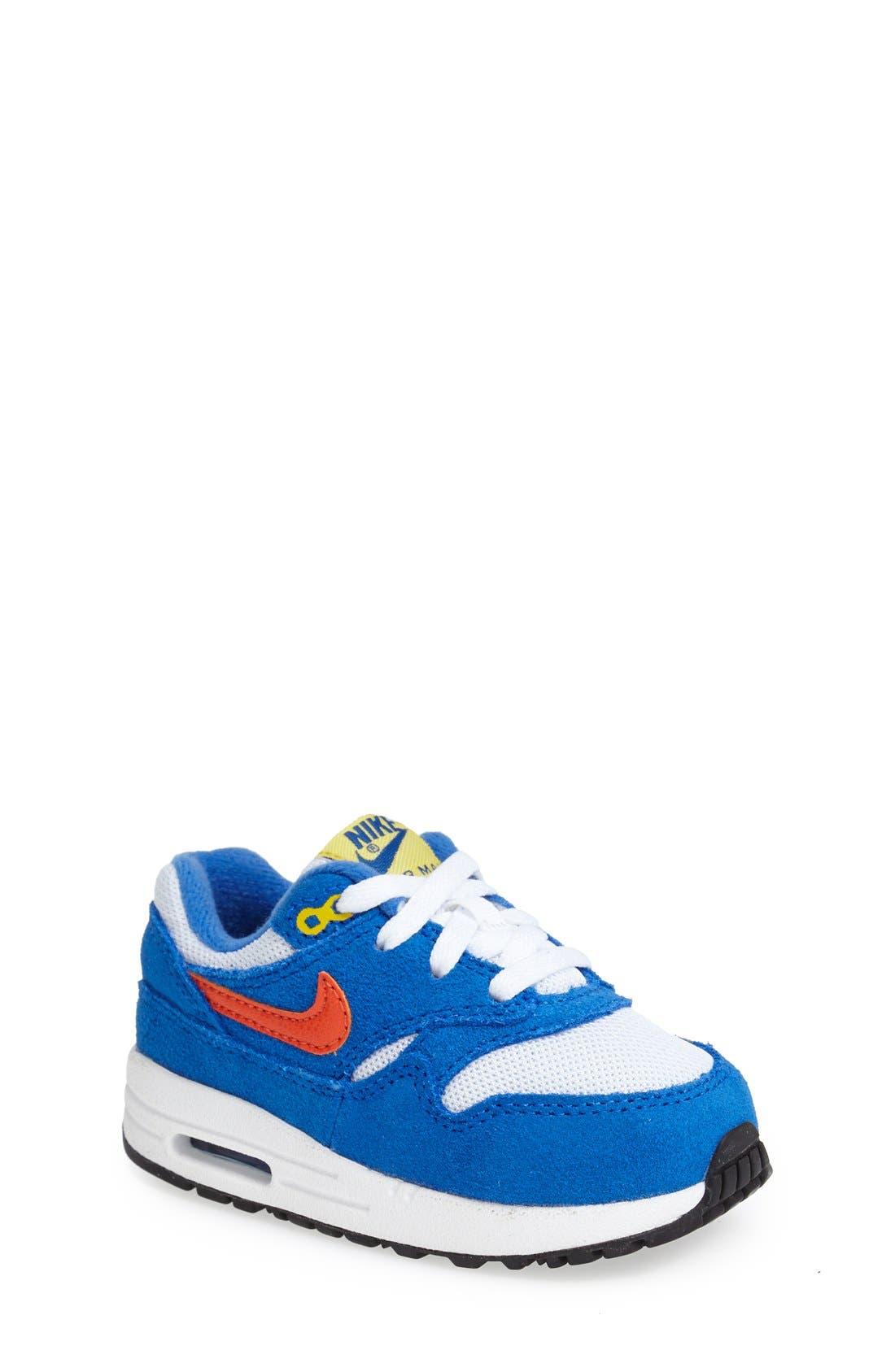 Alternate Image 1 Selected - Nike 'Air Max 1 TD' Sneaker (Baby, Walker & Toddler)