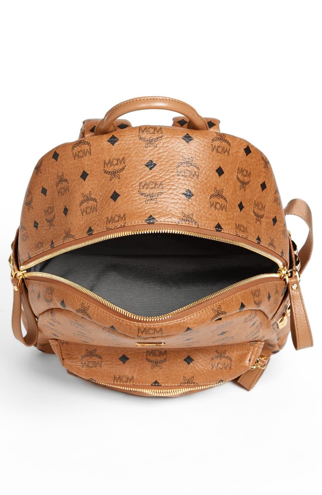 Alternate Image 4  - MCM 'Medium Stark - Visetos' Studded Backpack