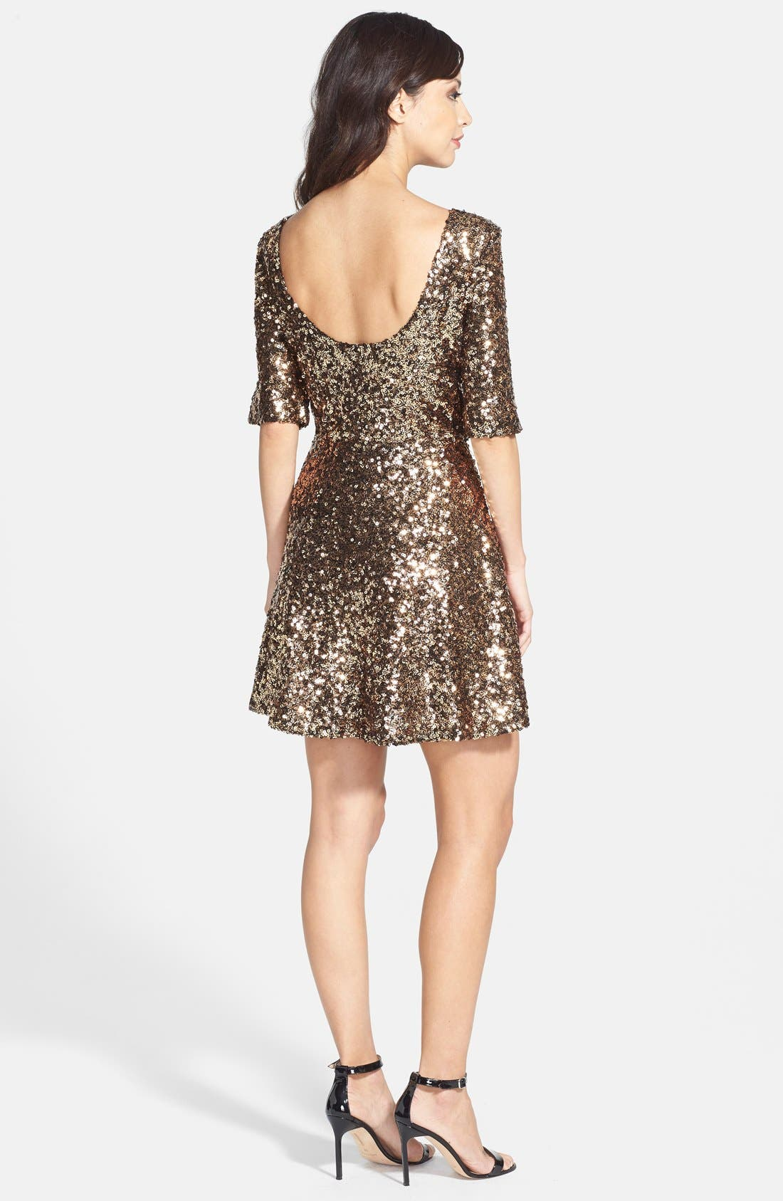 Alternate Image 2  - French Connection 'Ozlem' Sequin Fit & Flare Dress