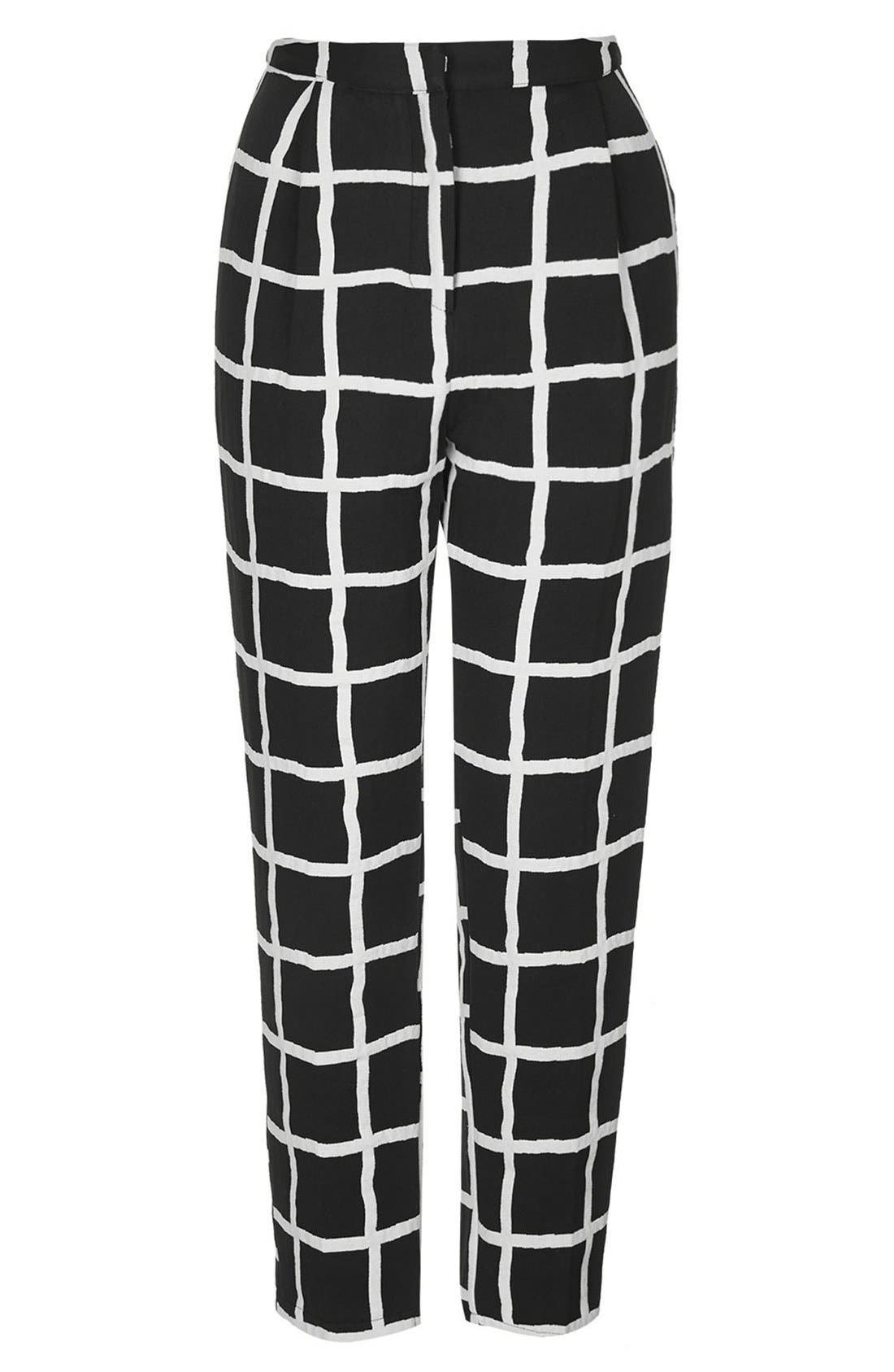 Alternate Image 3  - Topshop Windowpane Peg Trousers