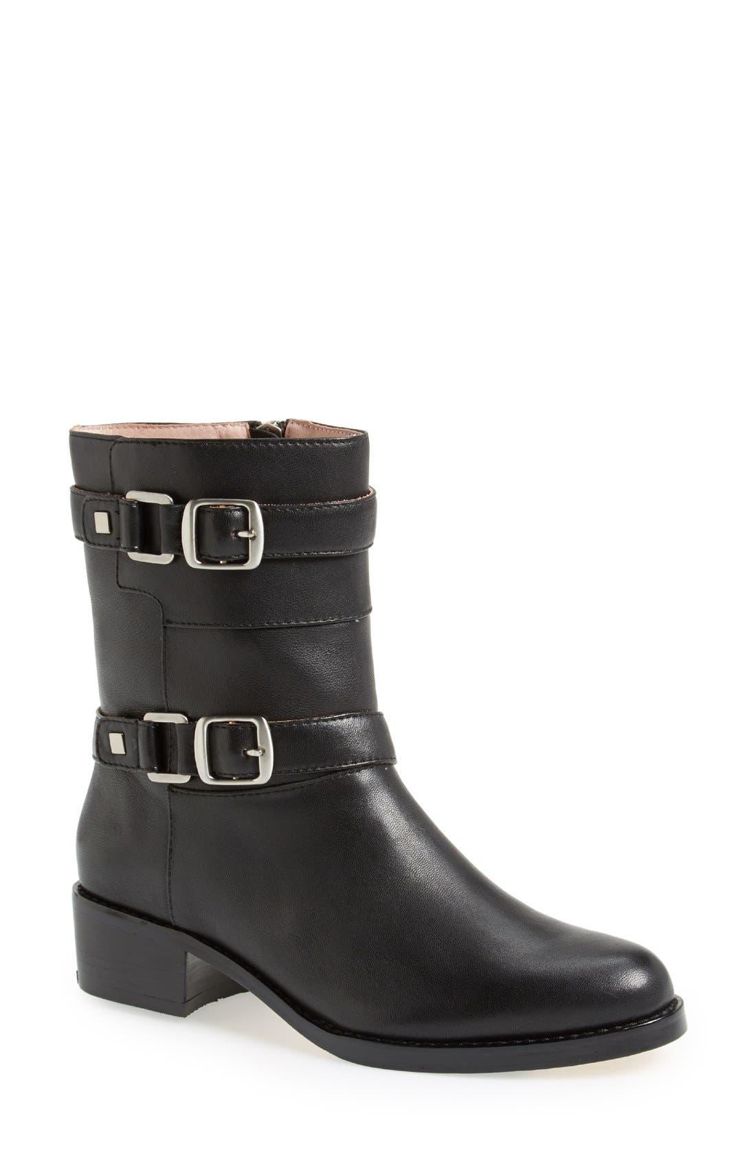 Main Image - Taryn Rose 'Sammie' Leather Moto Boot (Women)