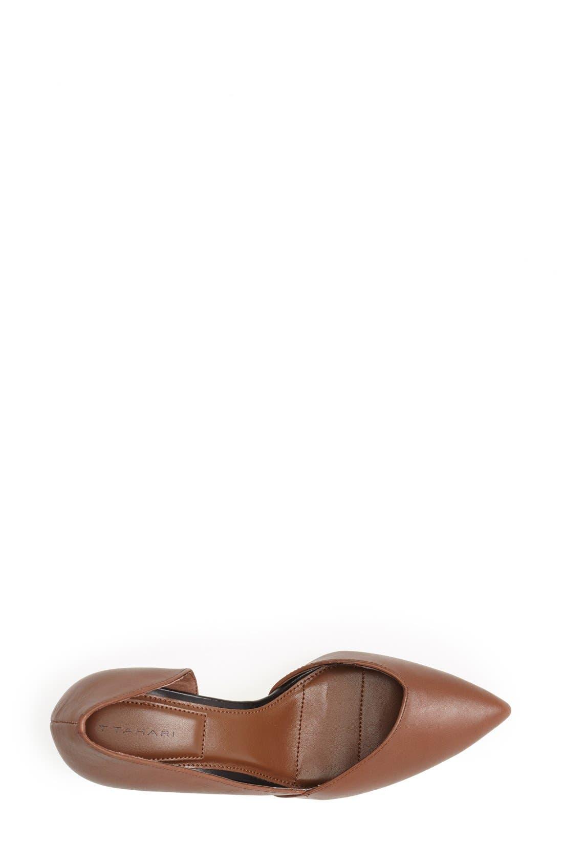 Alternate Image 4  - T Tahari 'Lars' Pointy Toe Leather Pump (Women)