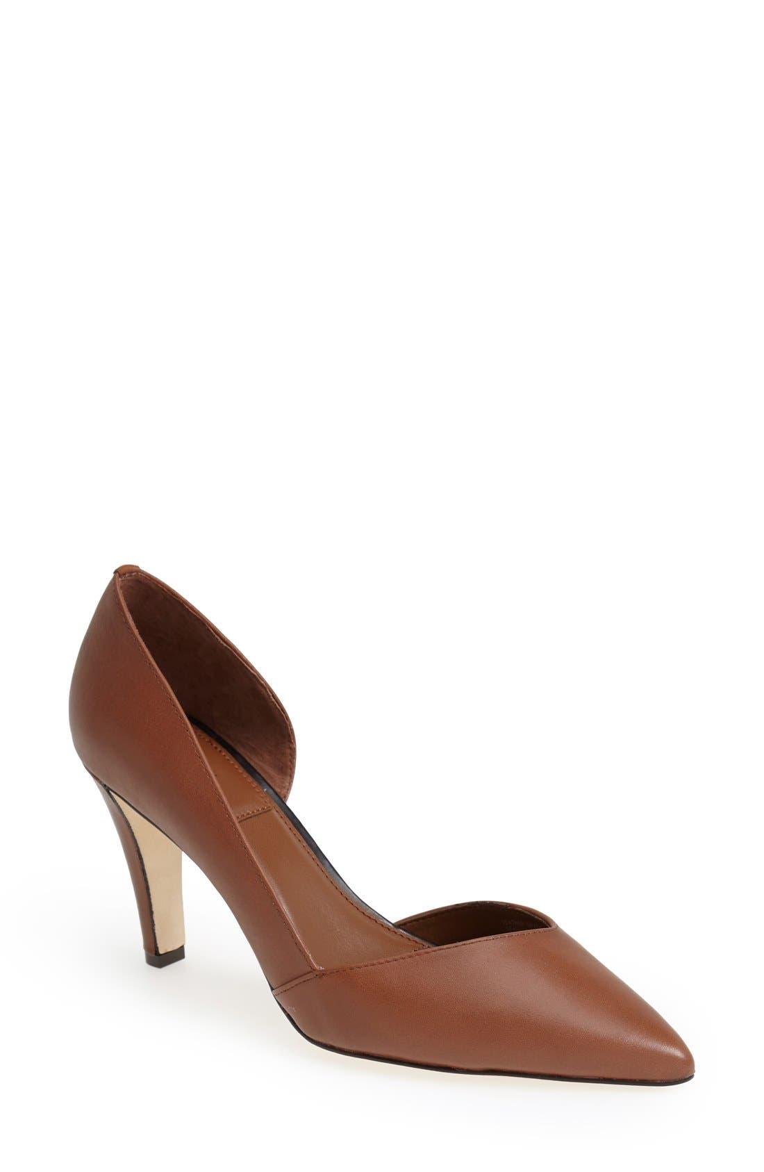 Alternate Image 1 Selected - T Tahari 'Lars' Pointy Toe Leather Pump (Women)