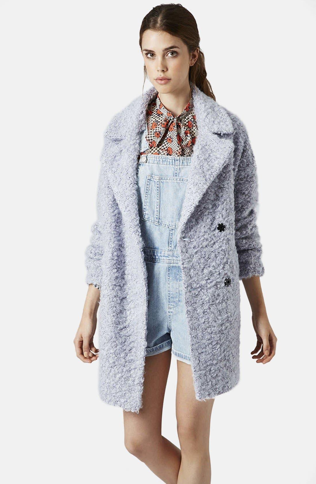 Main Image - Topshop 'Amelie' Slouchy Boyfriend Coat