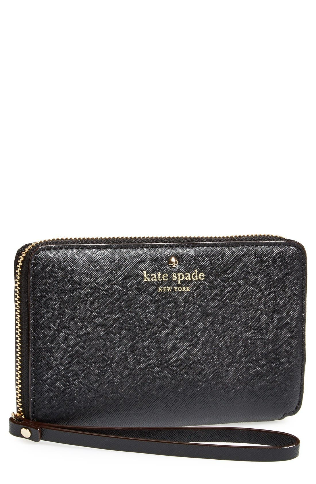 Alternate Image 1 Selected - kate spade new york 'cedar street - laurie' zip around phone wallet