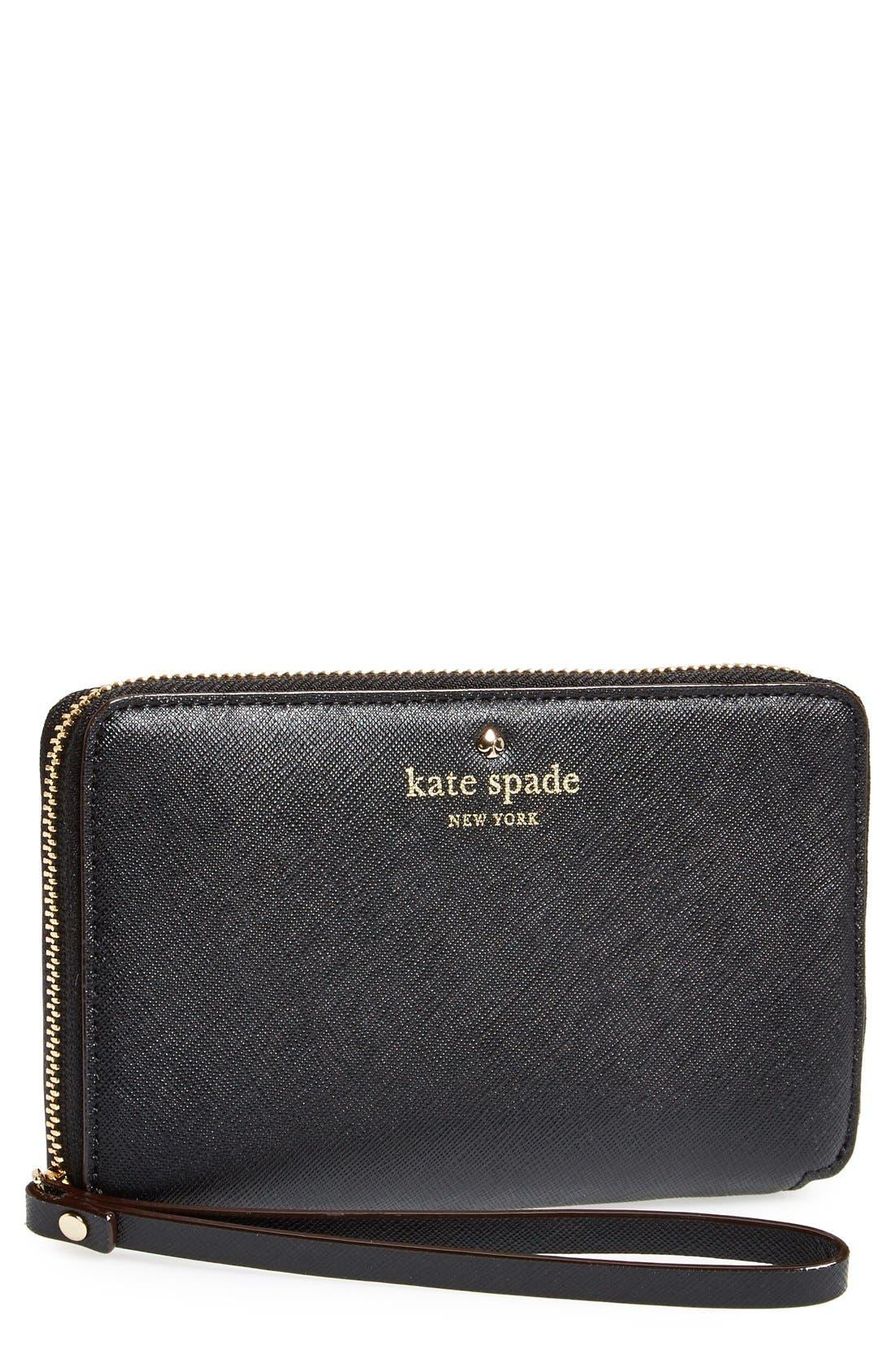 Main Image - kate spade new york 'cedar street - laurie' zip around phone wallet