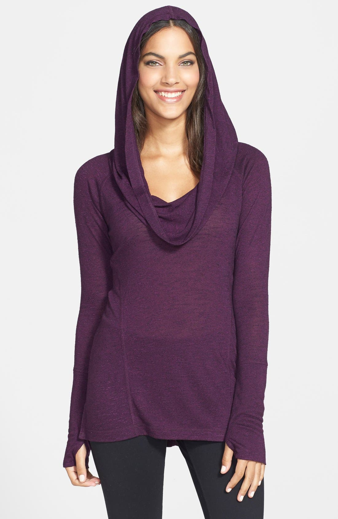 Alternate Image 2  - Zella 'All Shirred Up Too' Pullover