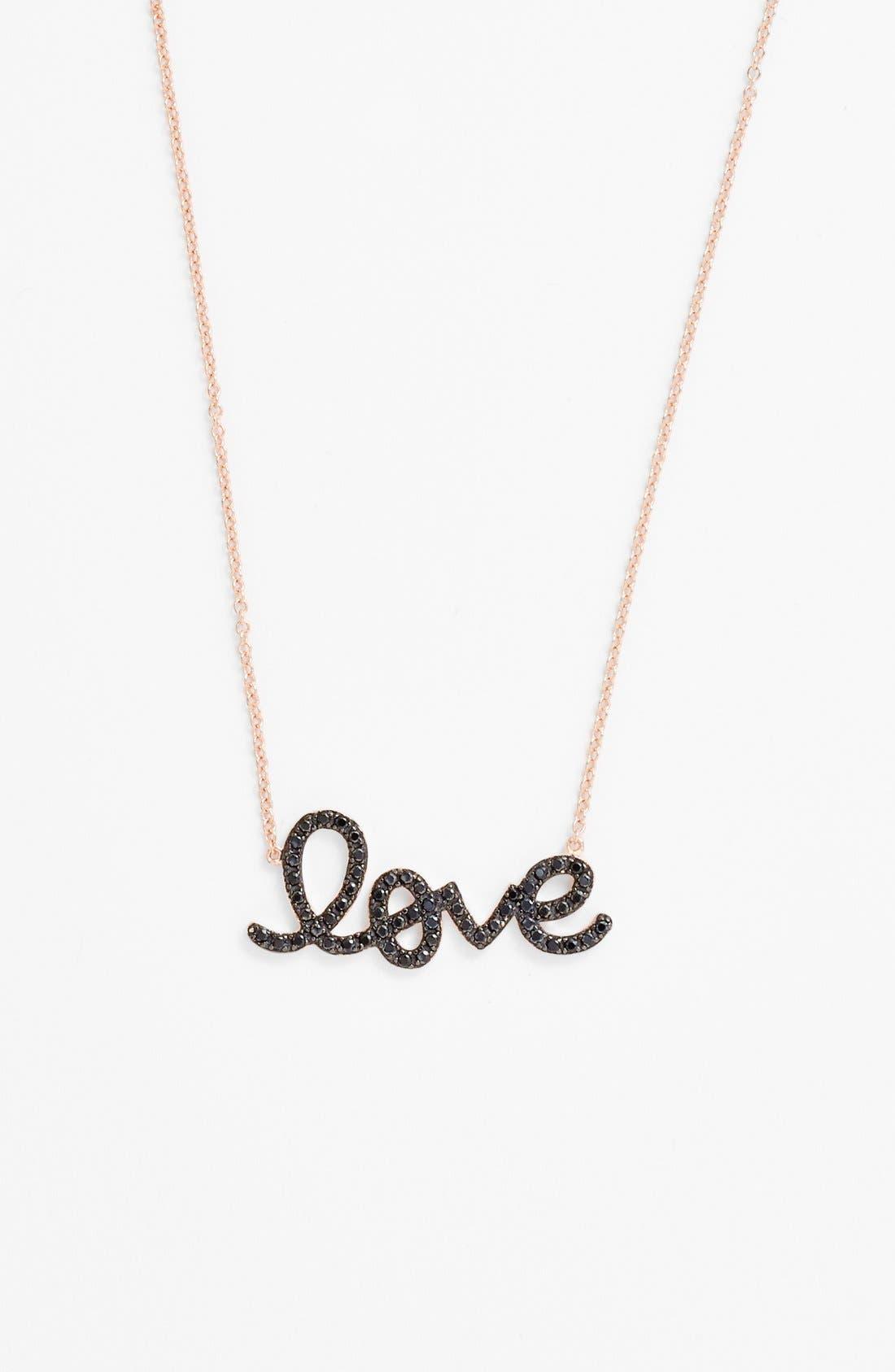 Alternate Image 1 Selected - Sugar Bean Jewelry 'Love' Pendant Necklace