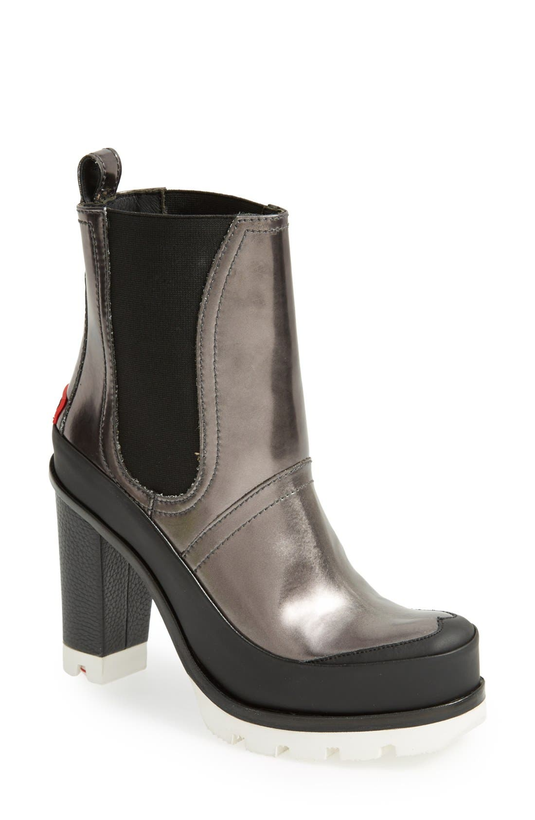 Main Image - Hunter 'Original - High Heel' Chelsea Rain Boot (Women)
