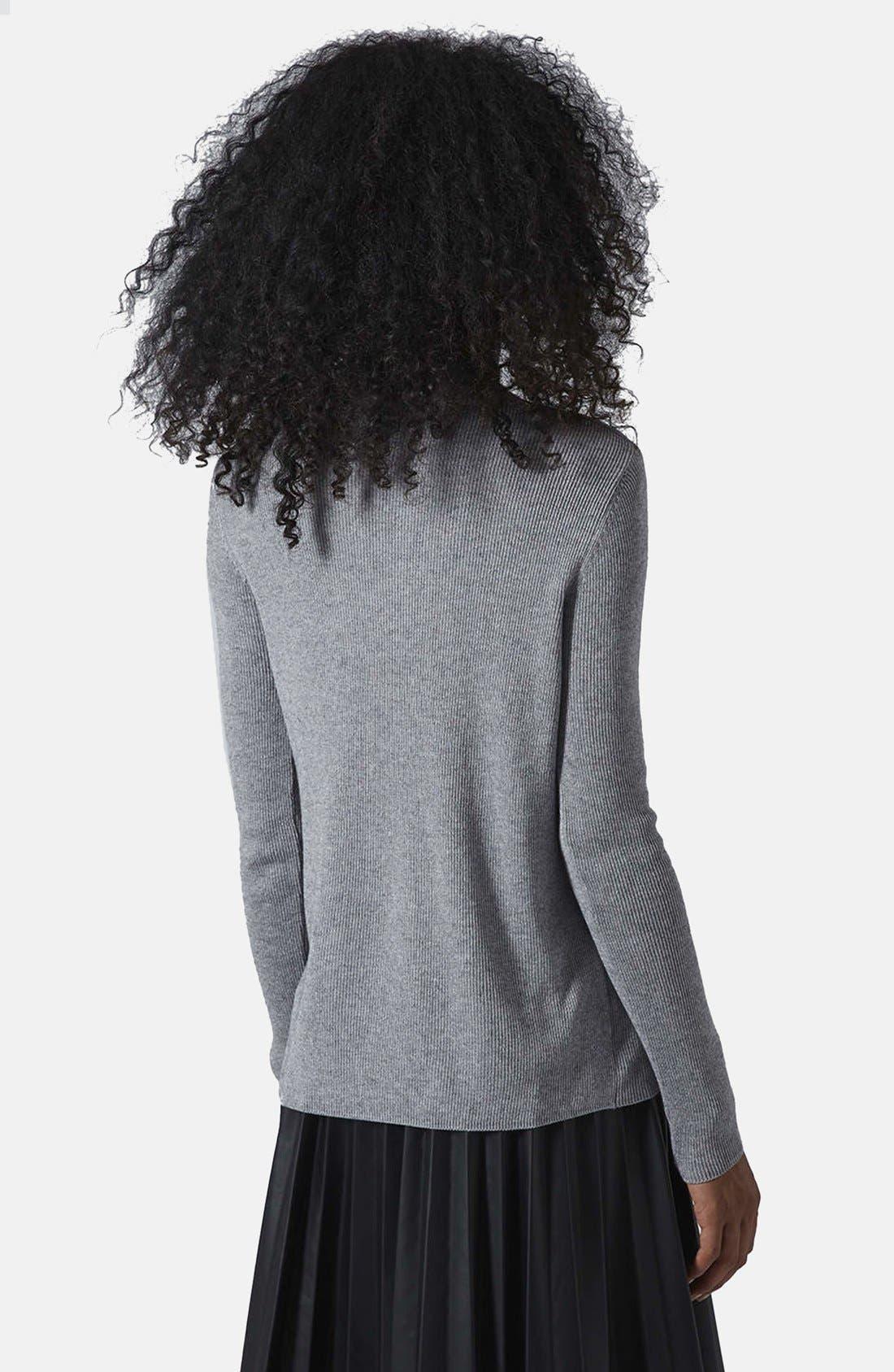 Alternate Image 2  - Topshop Ribbed Turtleneck Sweater