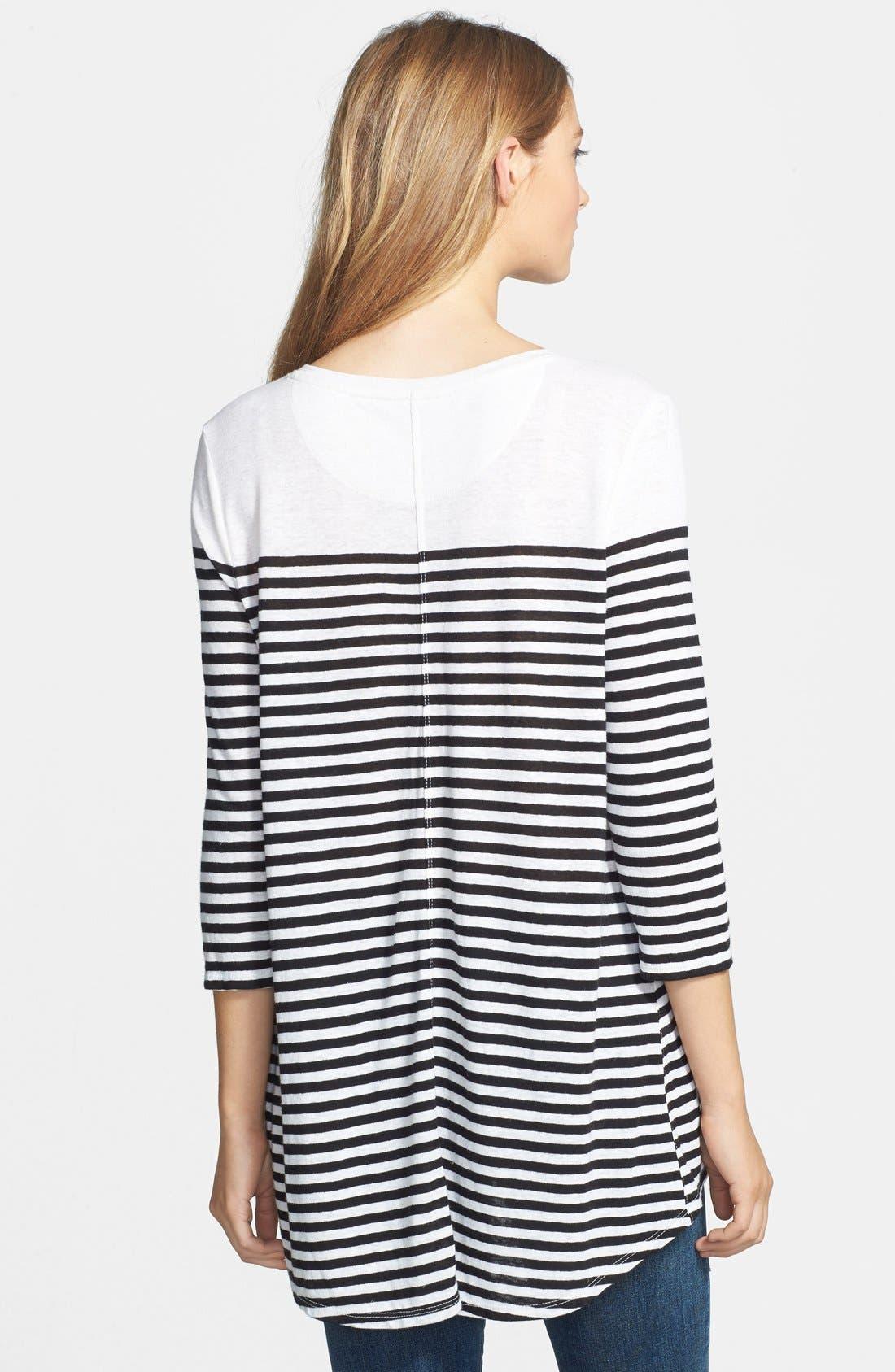 Alternate Image 2  - Lucky Brand Stripe Pocket Tunic