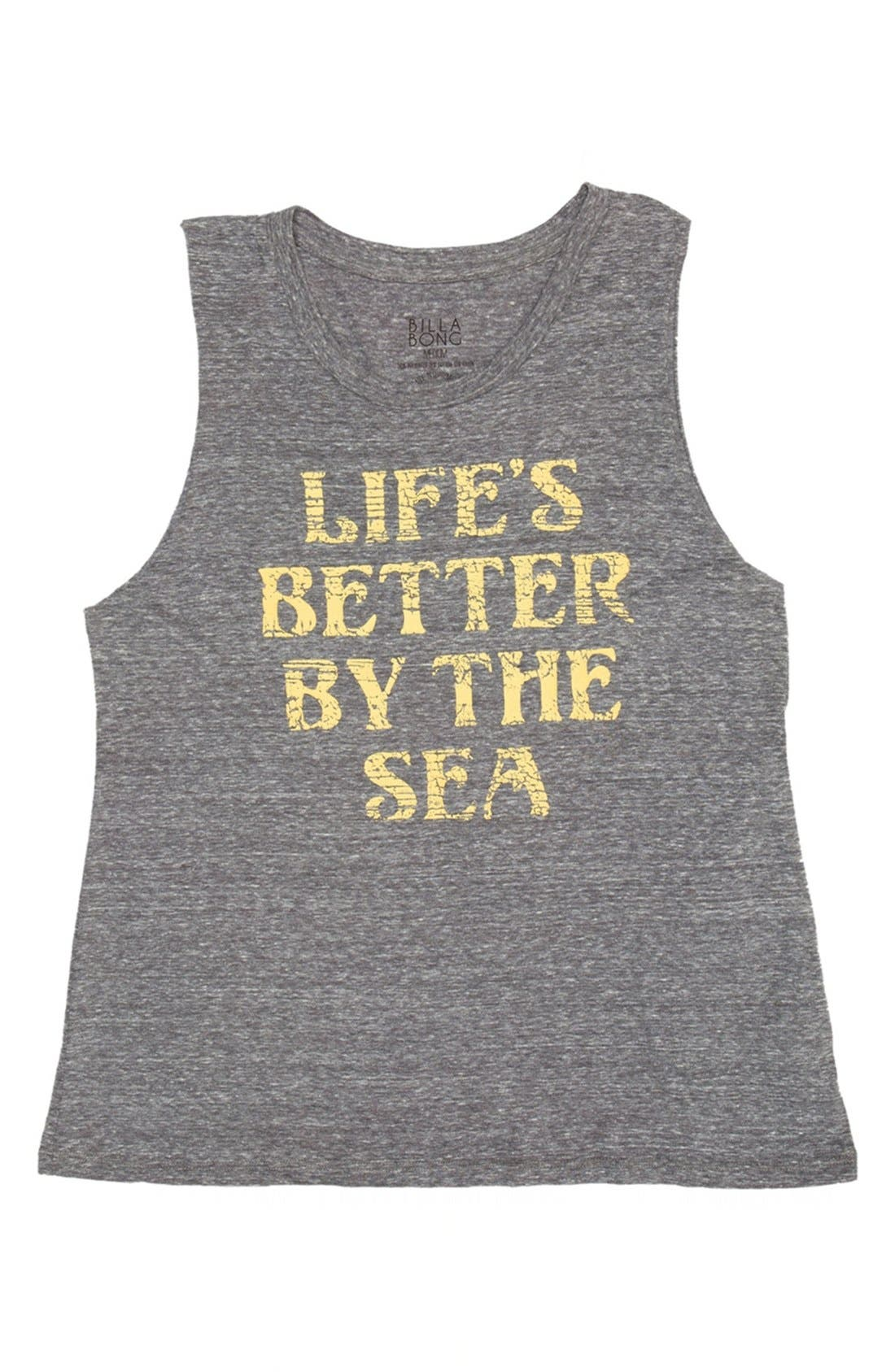 Alternate Image 1 Selected - Billabong 'Sea is Better' Graphic Muscle Tank