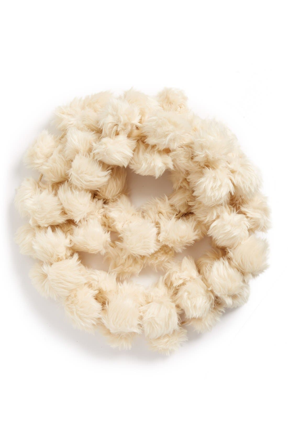 Alternate Image 3  - Leith Faux Fur Pom Infinity Scarf