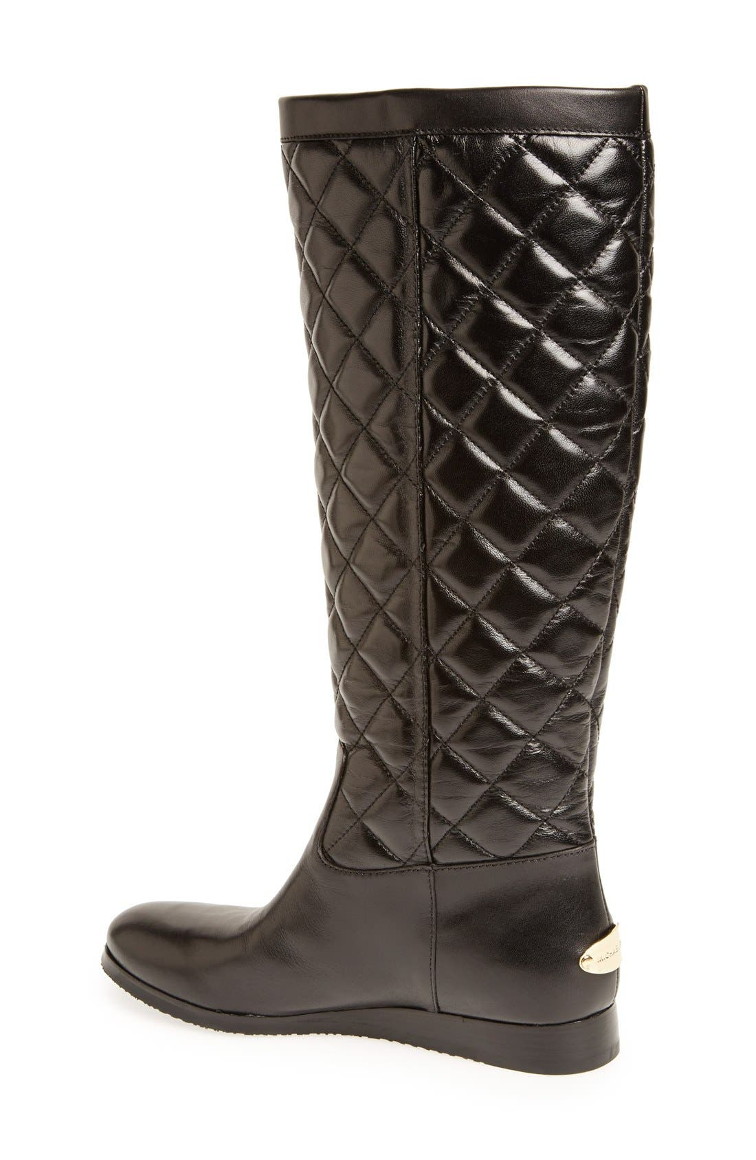 Alternate Image 2  - MICHAEL Michael Kors 'Lizzie' Quilted Leather Knee High Boot (Women)