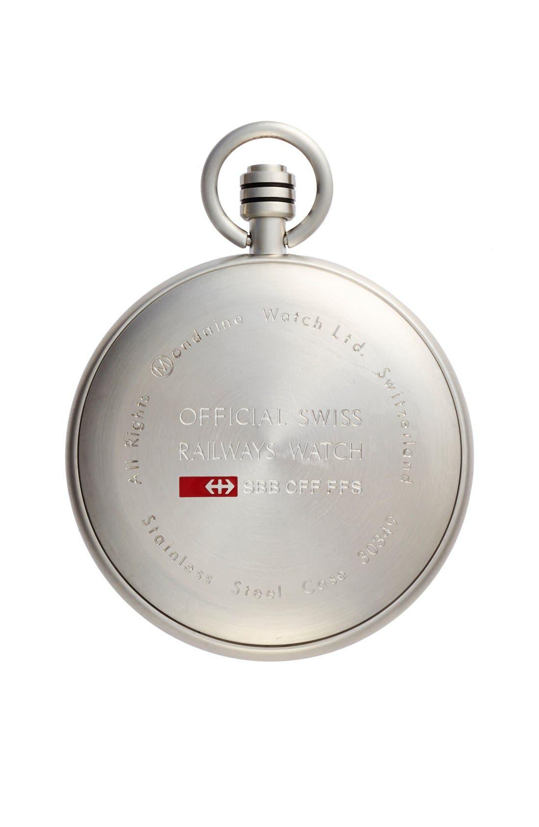 Alternate Image 2  - Mondaine 'Savonnette II' Pocket Watch, 51mm