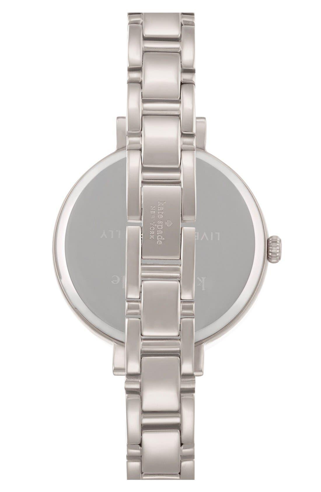 Alternate Image 2  - kate spade new york 'gramercy' crystal bezel bracelet watch, 34mm