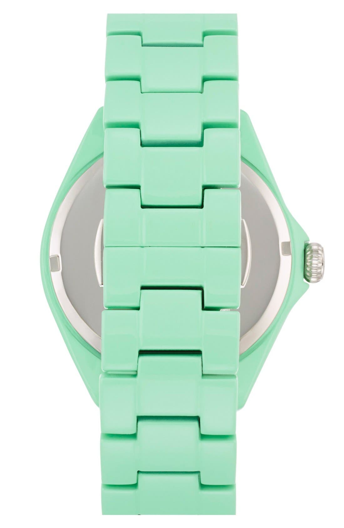 Alternate Image 3  - kate spade new york 'seaport grand' crystal enamel bracelet watch, 38mm