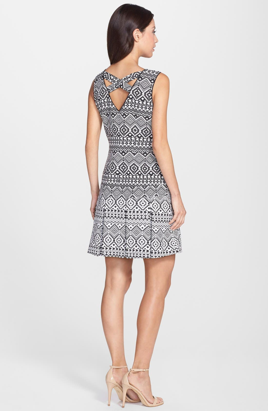 Alternate Image 2  - Jessica Simpson Geo Jacquard Drop Waist Dress