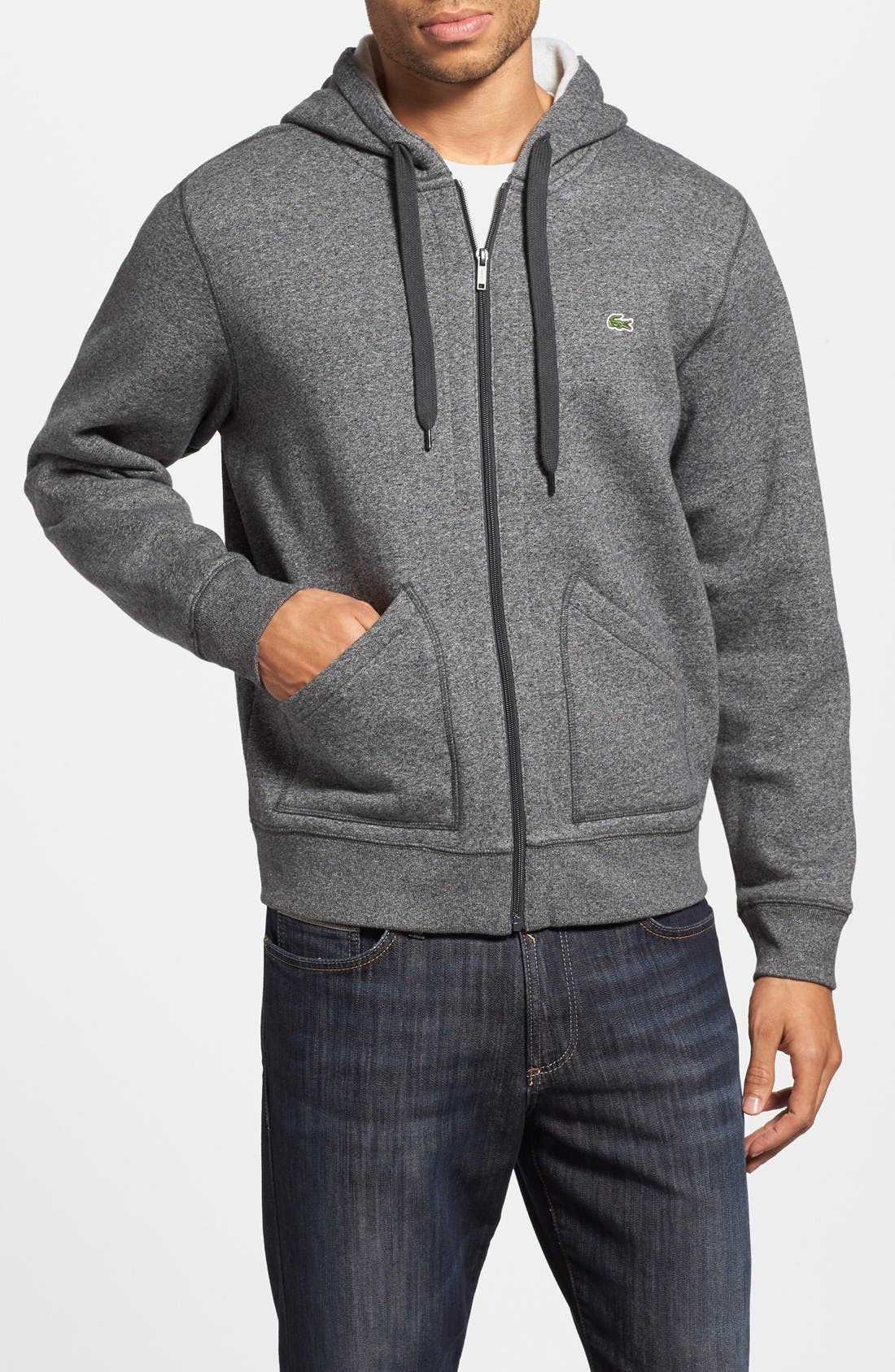 Alternate Image 1 Selected - Lacoste Zip-Up Hoodie