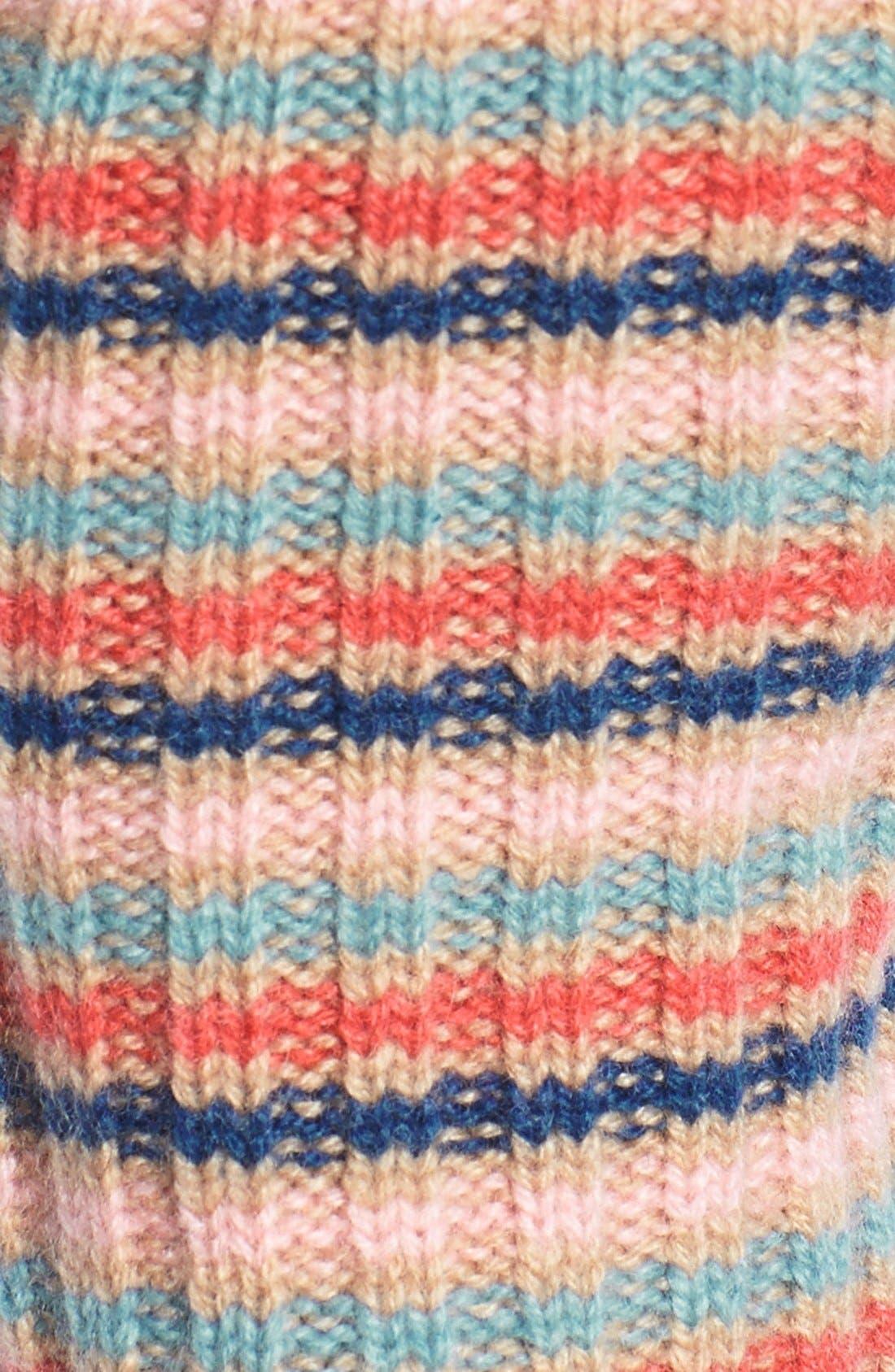 Alternate Image 2  - Made of Me Stripe Fingerless Cashmere Gloves