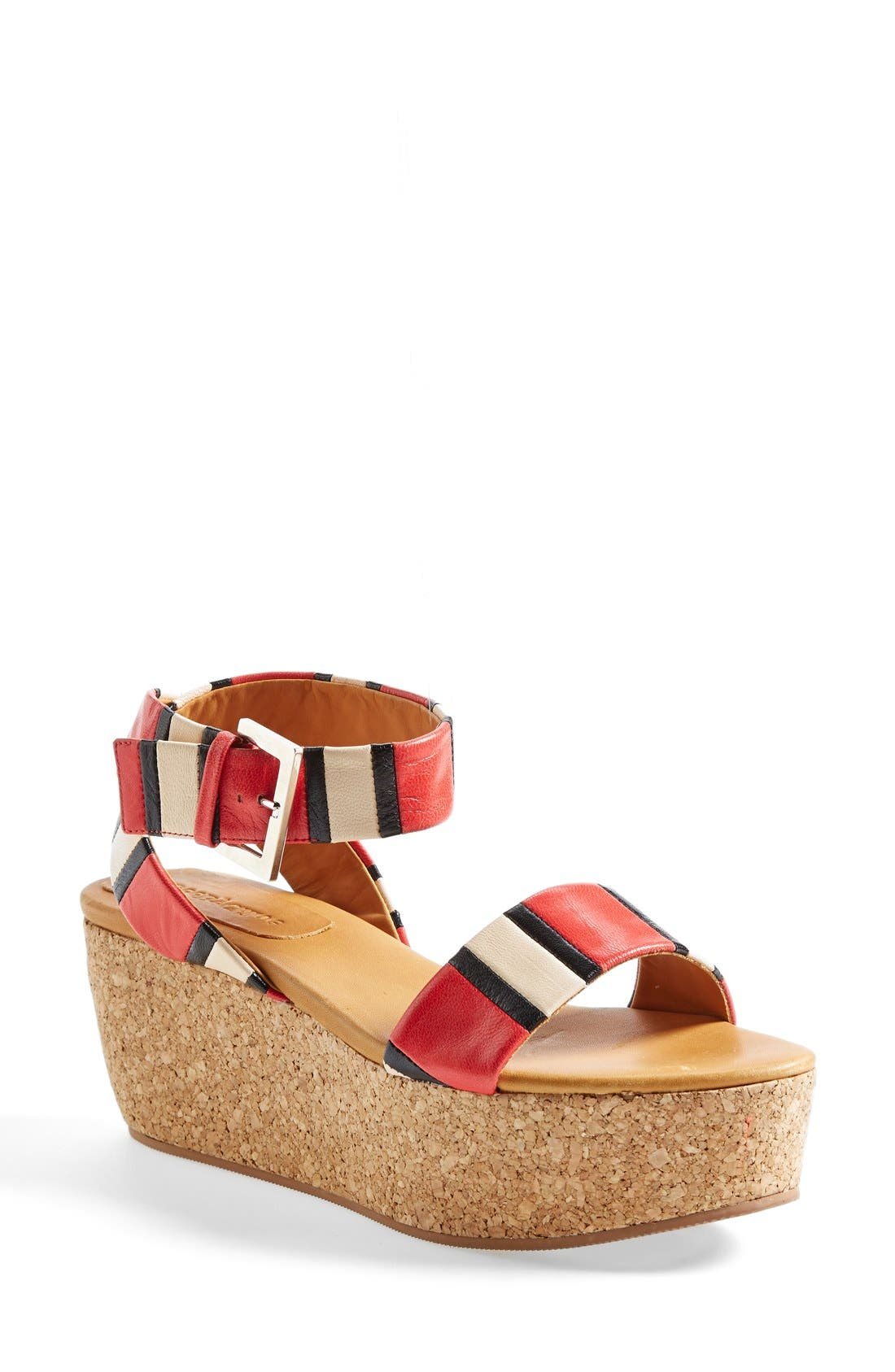Alternate Image 1 Selected - See by Chloé 'Patti' Stripe Wedge Sandal