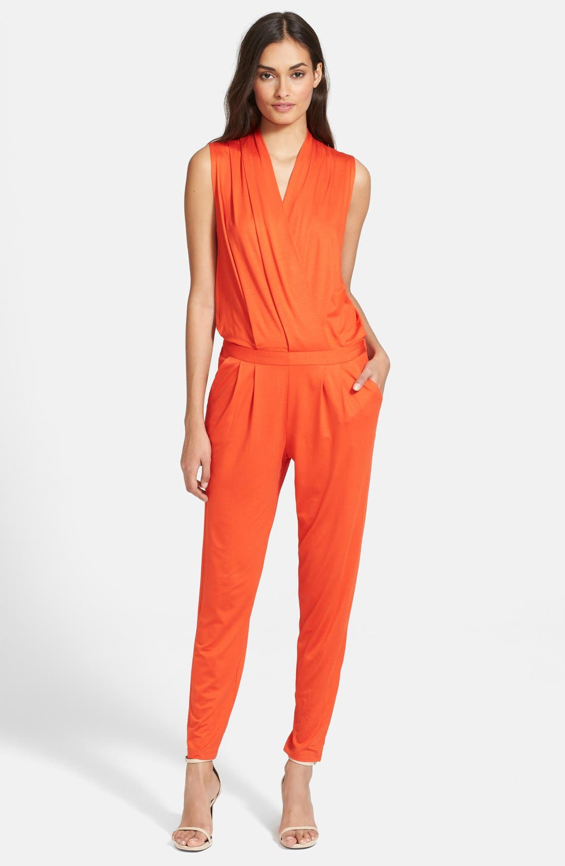 Alternate Image 1 Selected - Trina Turk 'Pauline' Surplice Jumpsuit