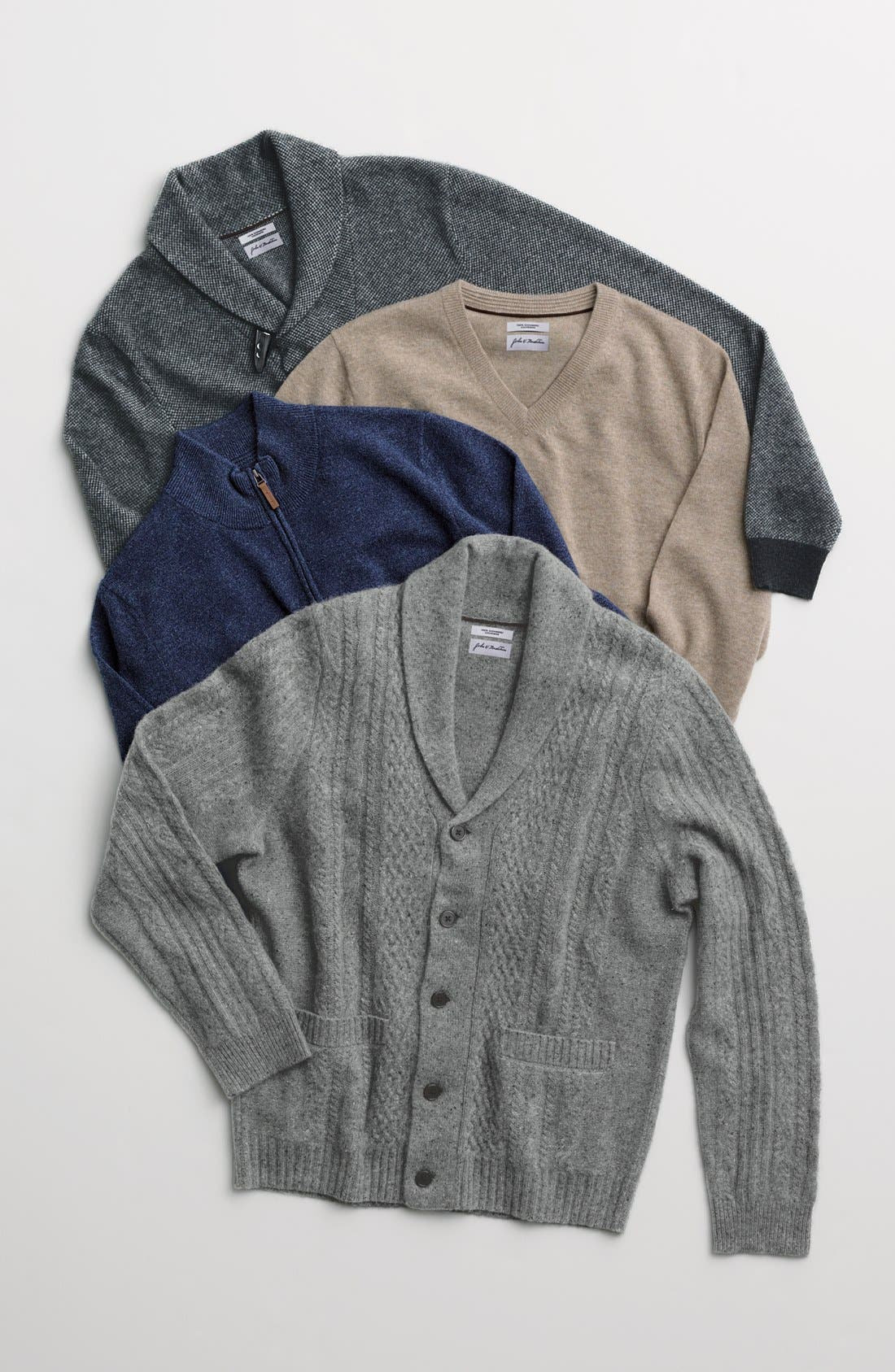 Alternate Image 4  - John W. Nordstrom® V-Neck Cashmere Sweater