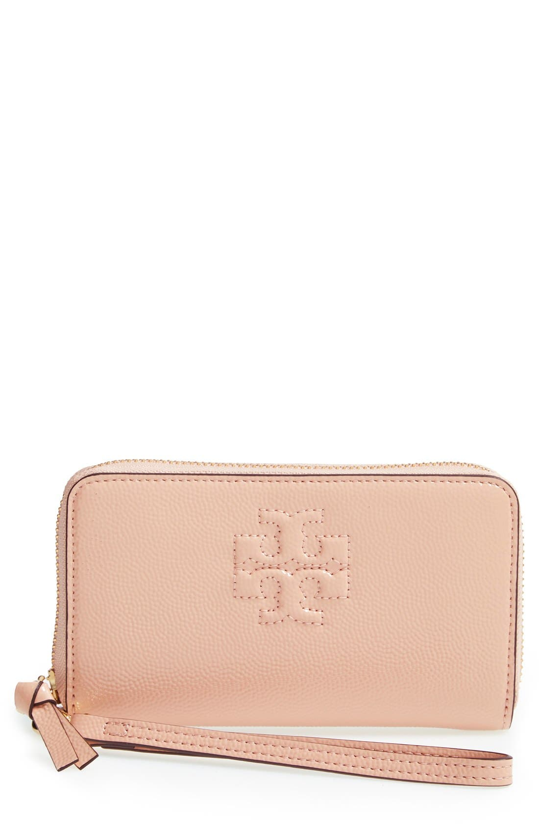 Alternate Image 1 Selected - Tory Burch 'Thea' Smartphone Wristlet Wallet