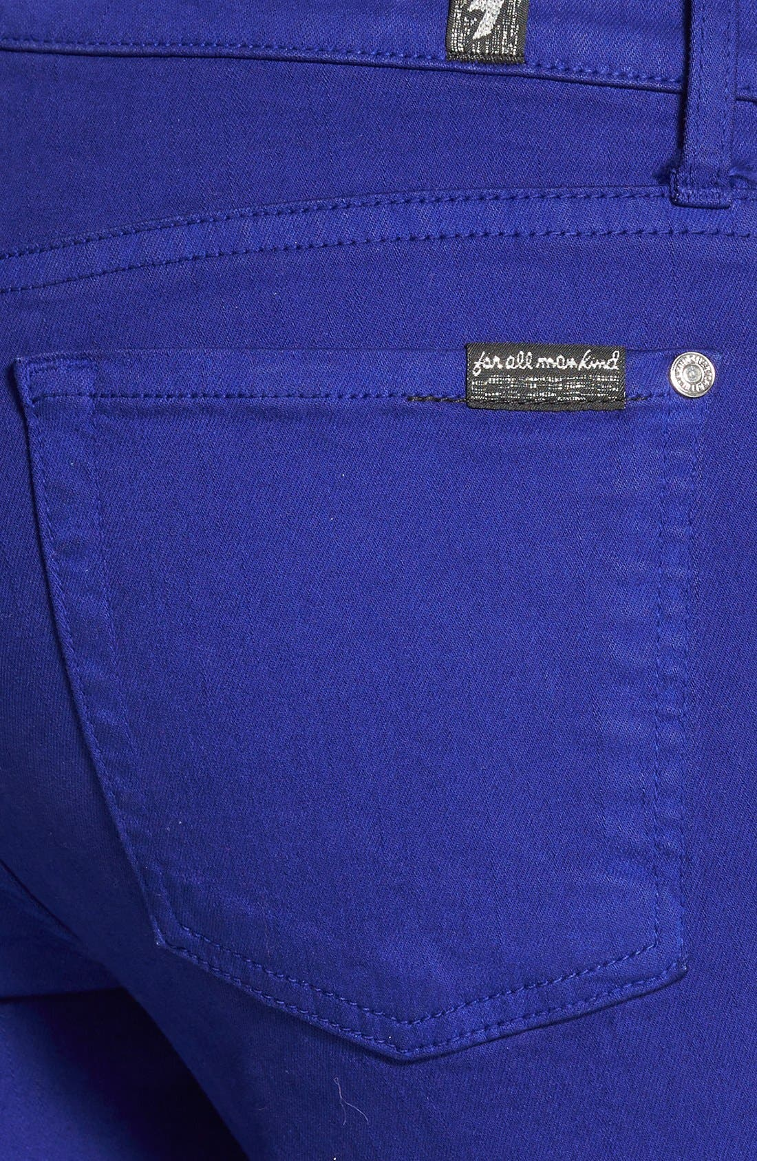Alternate Image 3  - 7 For All Mankind® 'The Ankle Skinny' Jeans (Monaco Purple)