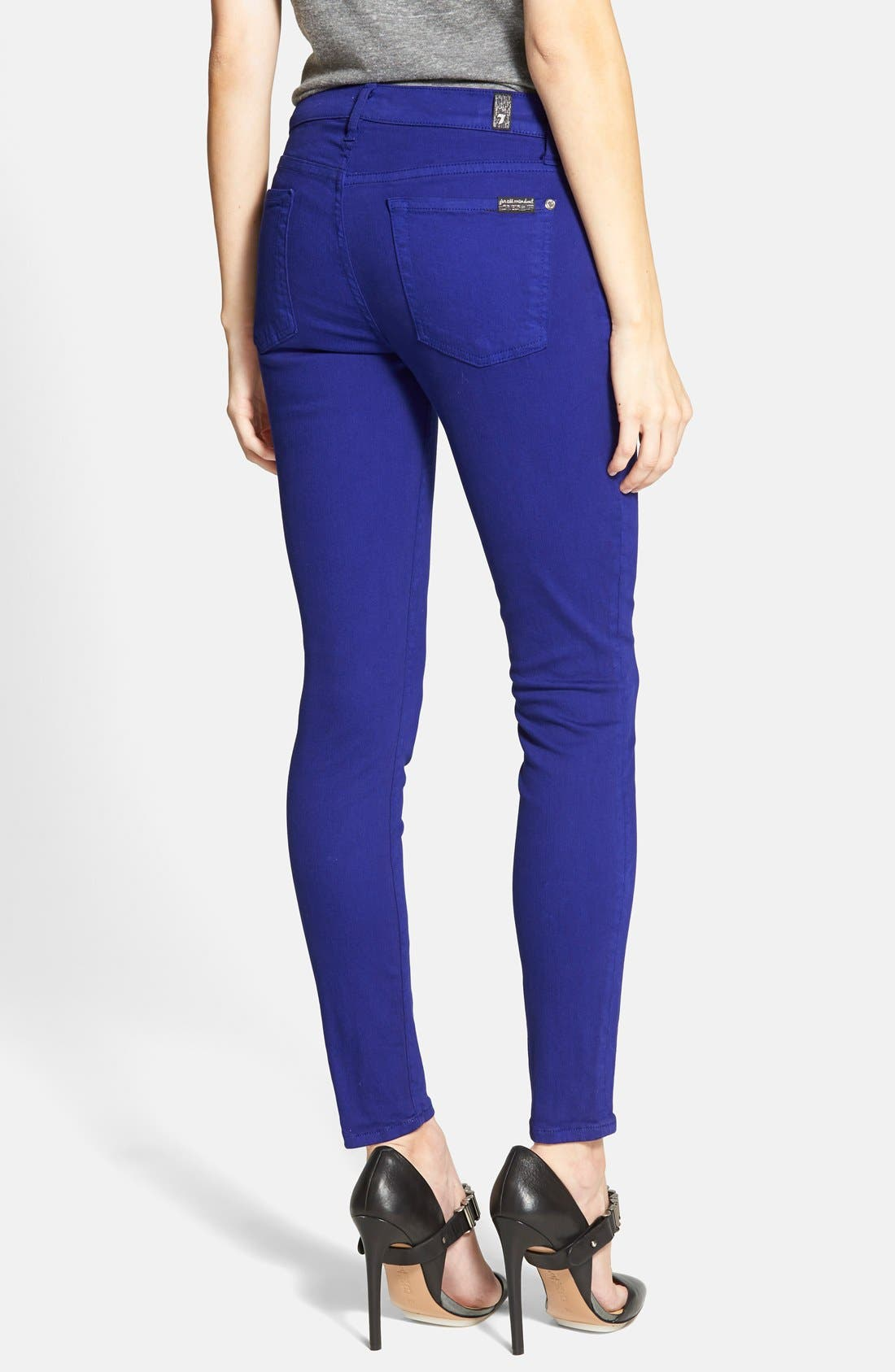 Alternate Image 2  - 7 For All Mankind® 'The Ankle Skinny' Jeans (Monaco Purple)