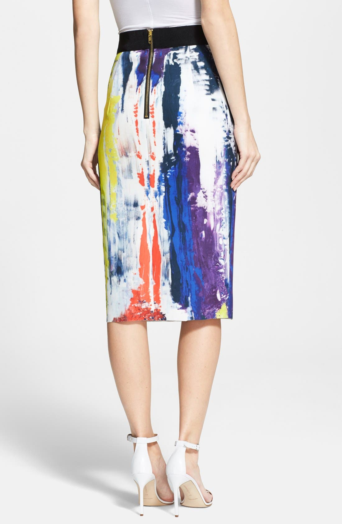 Alternate Image 2  - Milly Graffiti Print Midi Skirt