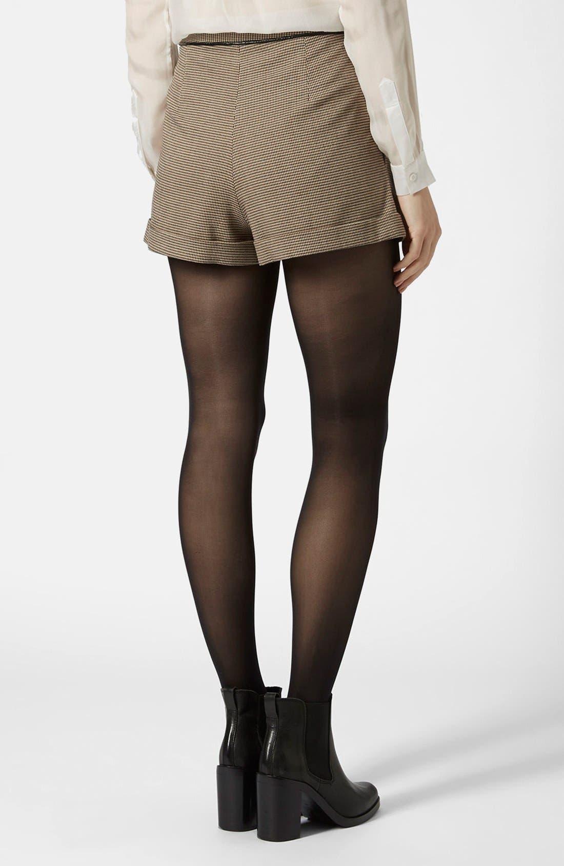 Alternate Image 2  - Topshop Check Mini Shorts