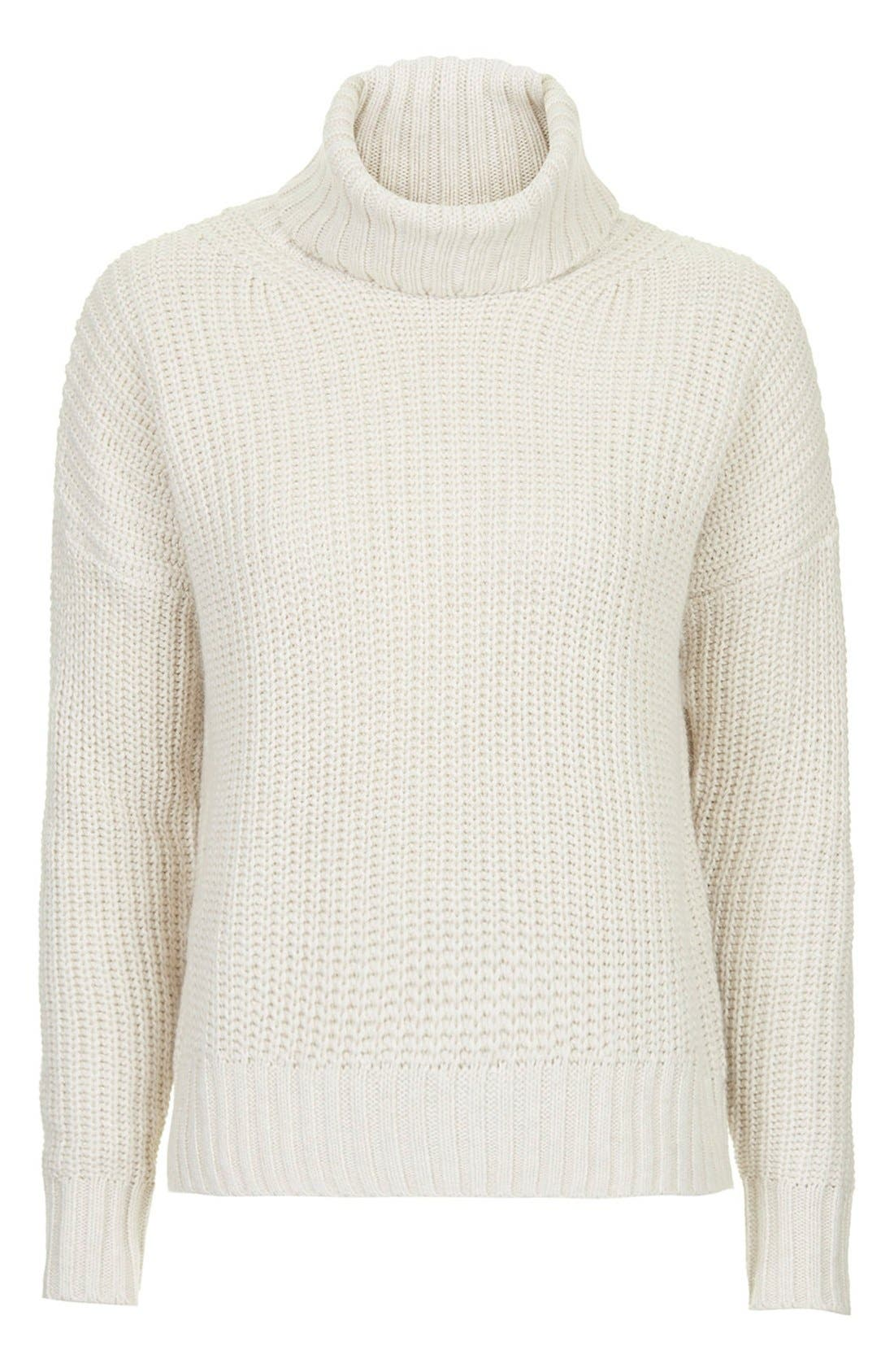 Alternate Image 3  - Topshop Chunky Ribbed Turtleneck Sweater