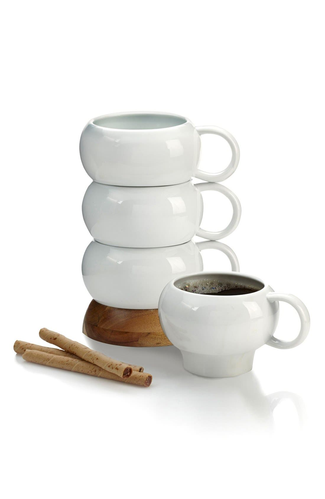 Nambé Bulbo Set of 4 Stacked Coffee Mugs