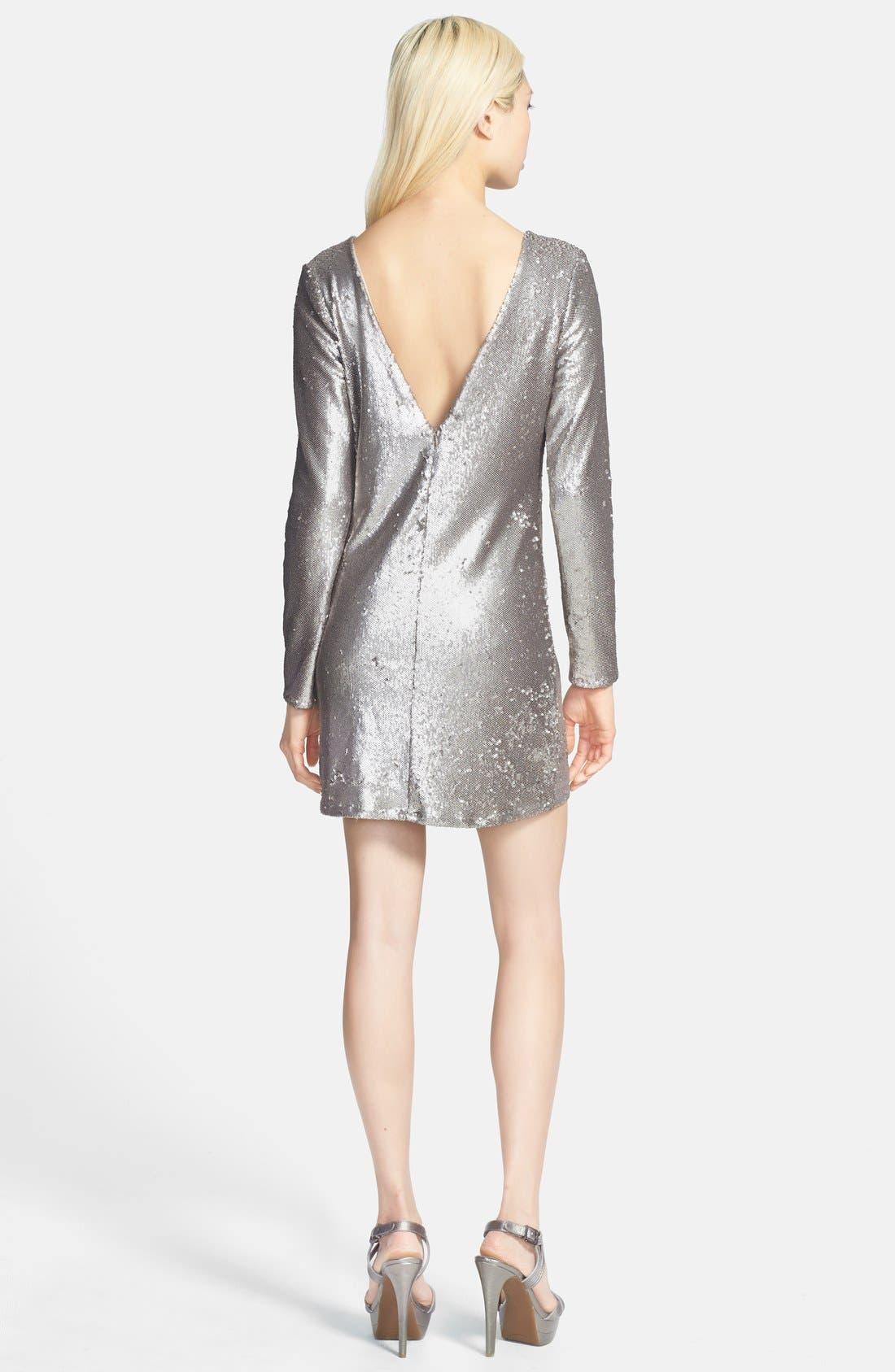 Alternate Image 2  - Glamorous V-Back Sequin Dress Sequin