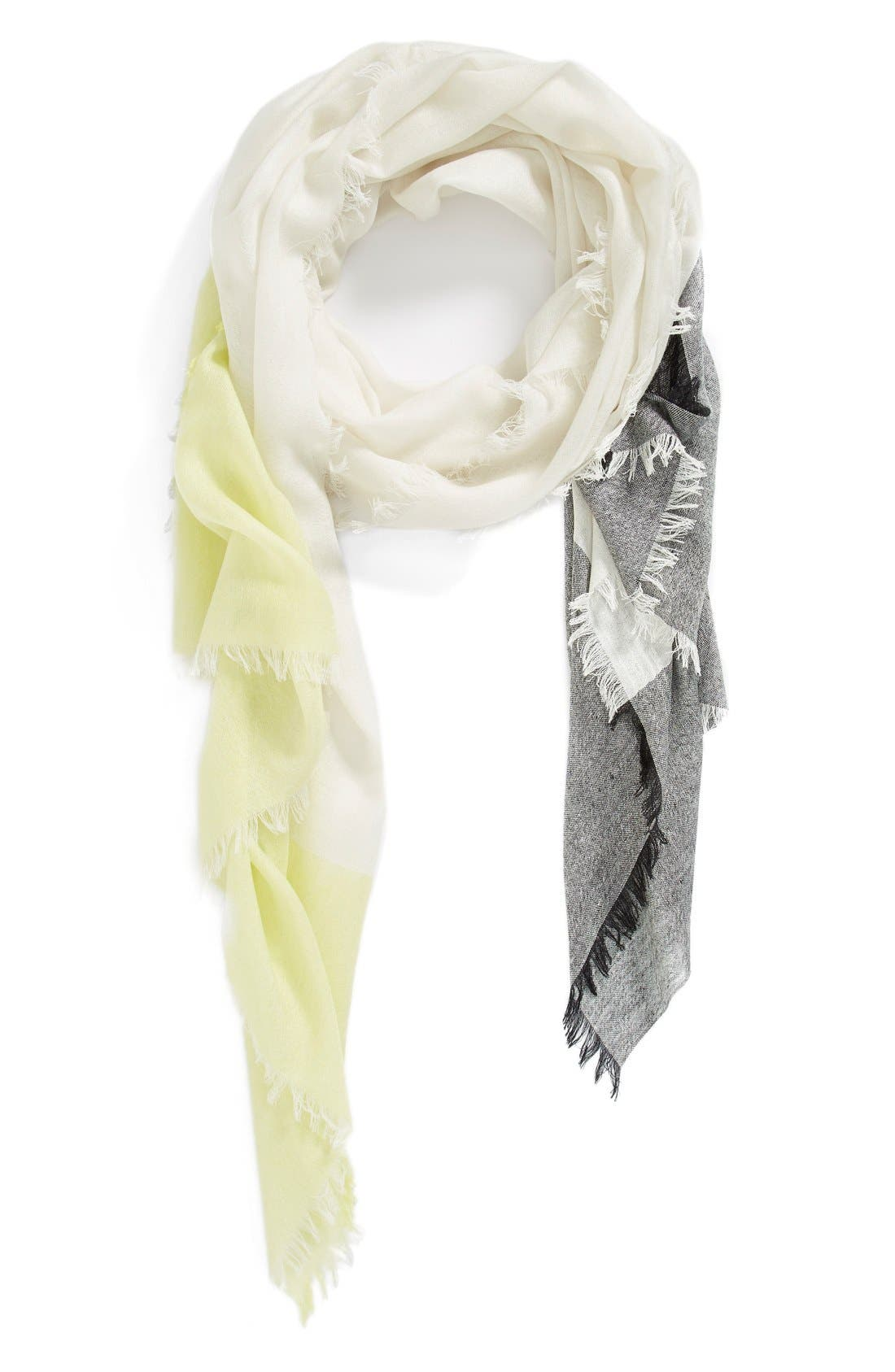 Main Image - Nordstrom Colorblock Cashmere & Silk Scarf